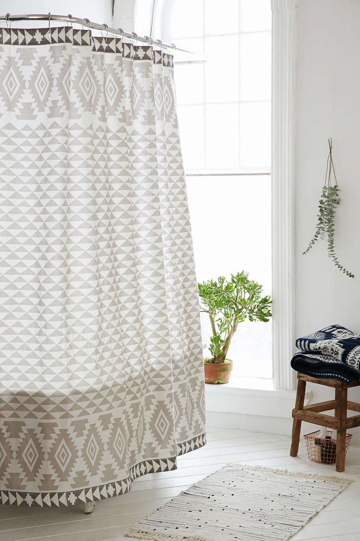 Gray Chevron Shower Curtain Urban Outfitters • Shower Curtains Ideas