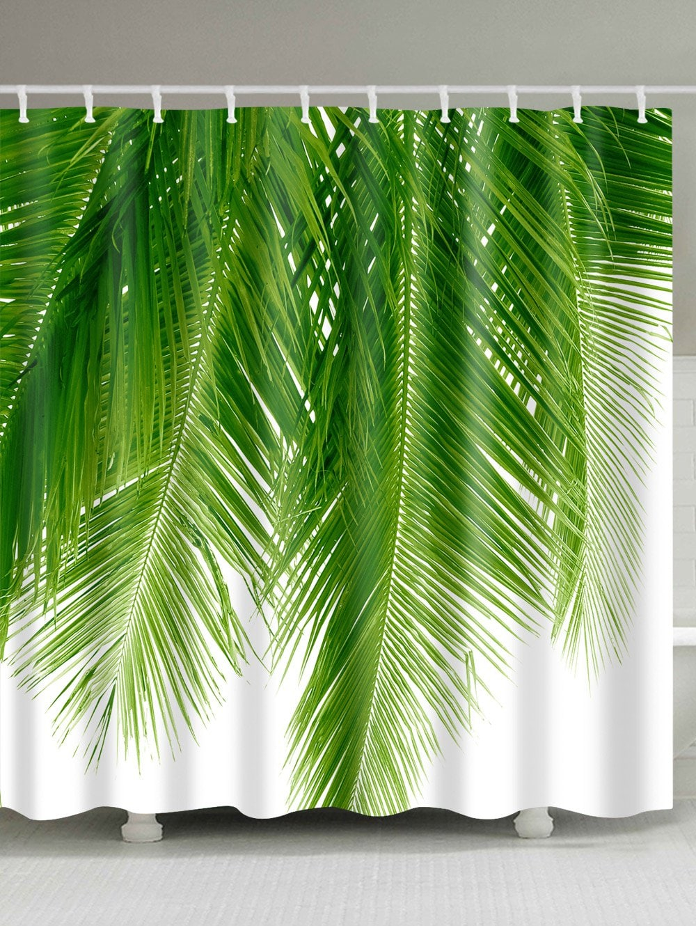 2018 Palm Tree Leaf Print Waterproof Bathroom Shower Curtain Green pertaining to sizing 1000 X 1330