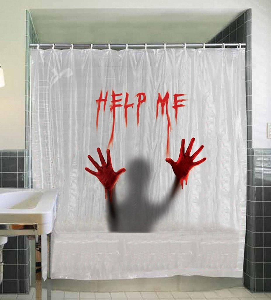 21 Horror Inspired Shower Curtains To Creep Up Your Home Riot Daily for measurements 927 X 1024