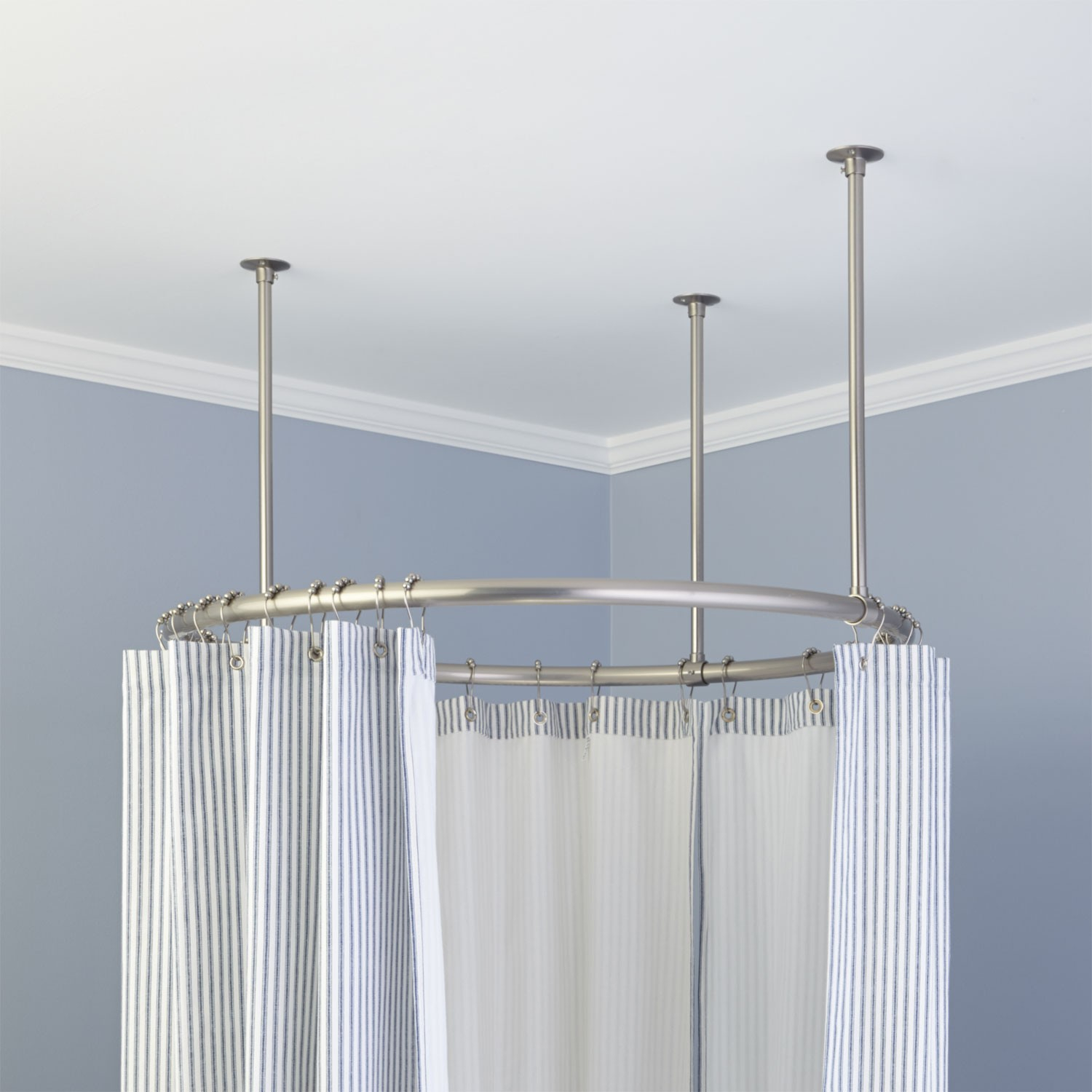 32 Round Solid Brass Shower Curtain Rod Bathroom With Sizing 1500 X 1500