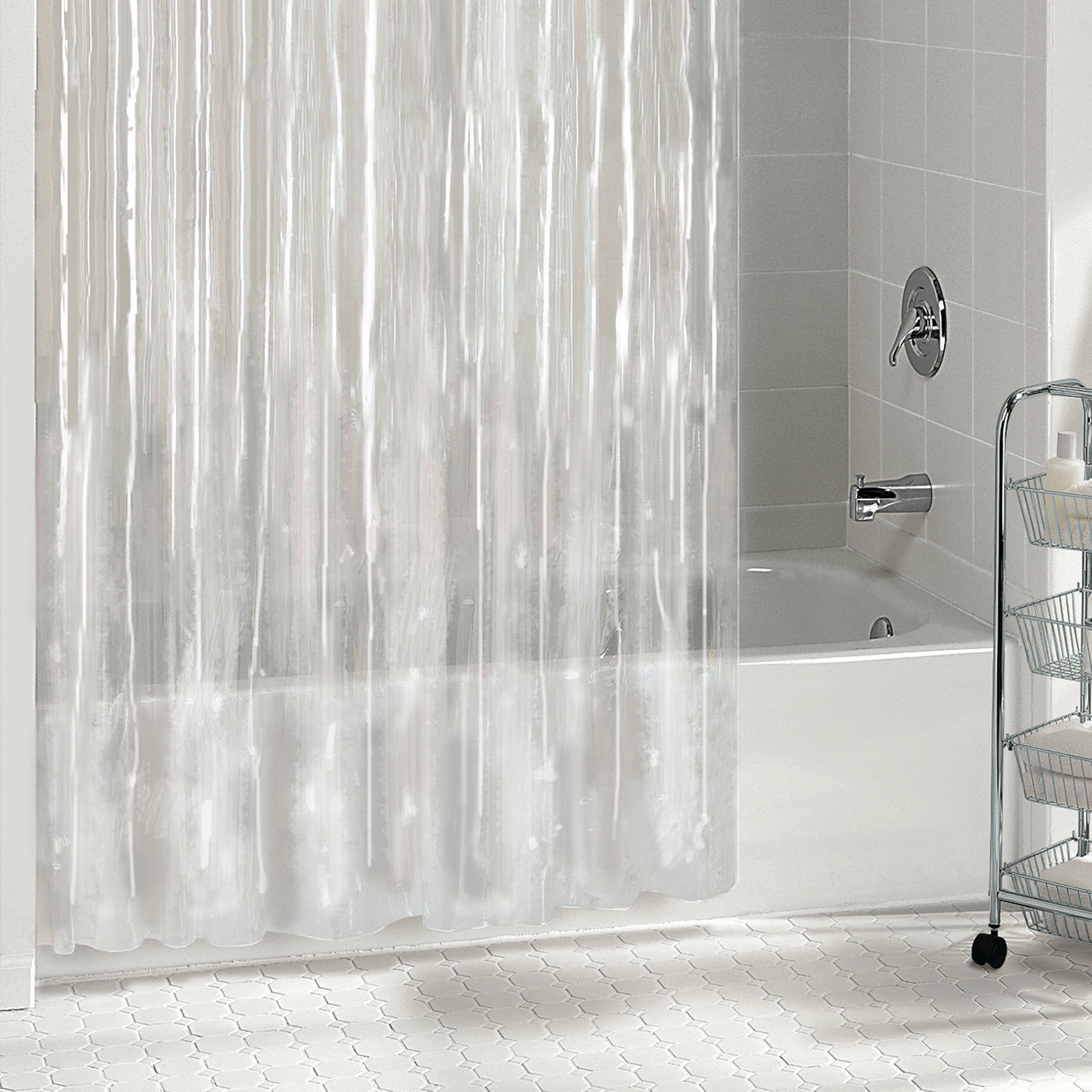 Hookless Shower Curtain Liner With Pockets • Shower Curtains Ideas