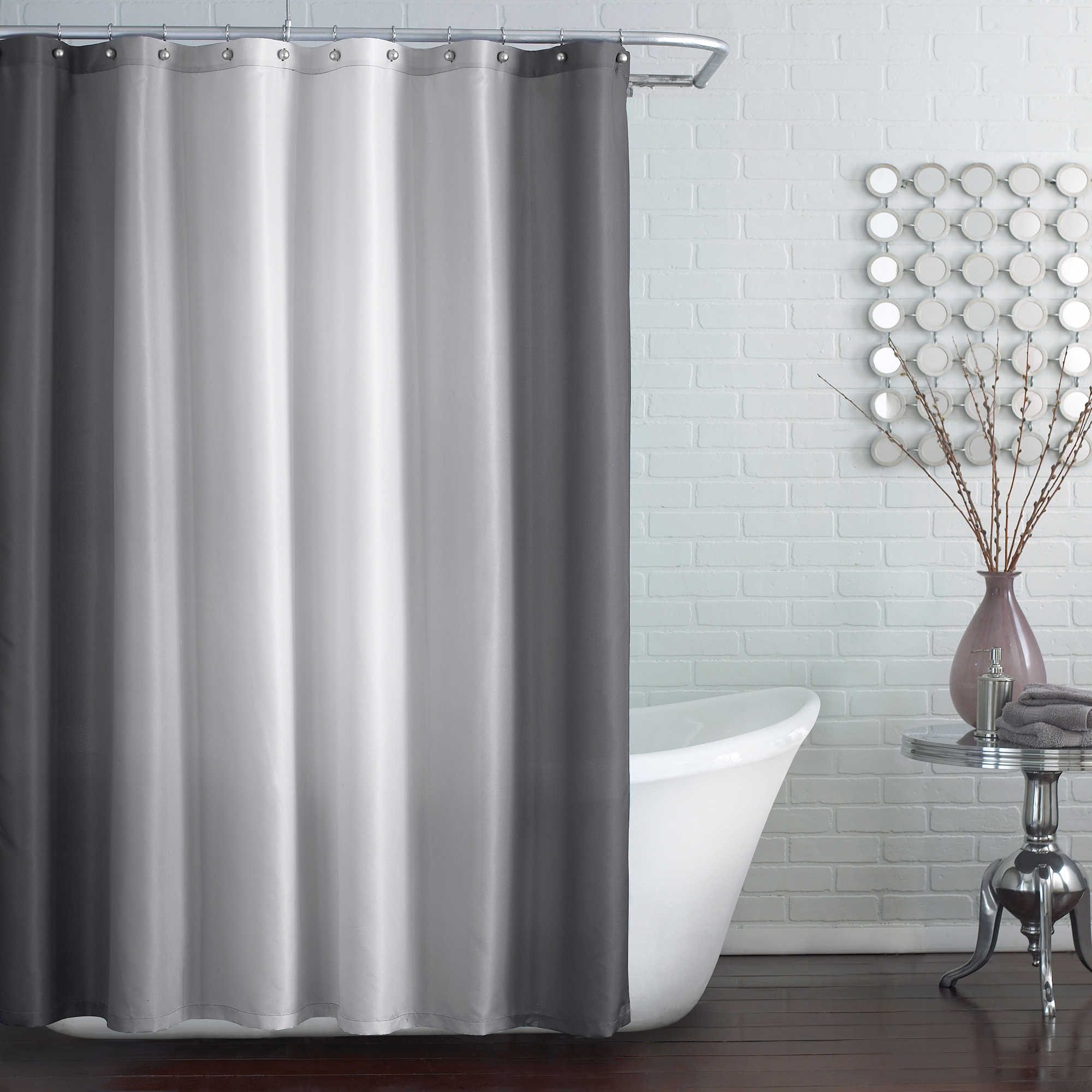 84 Wide Hookless Shower Curtain With Sizing 2000 X