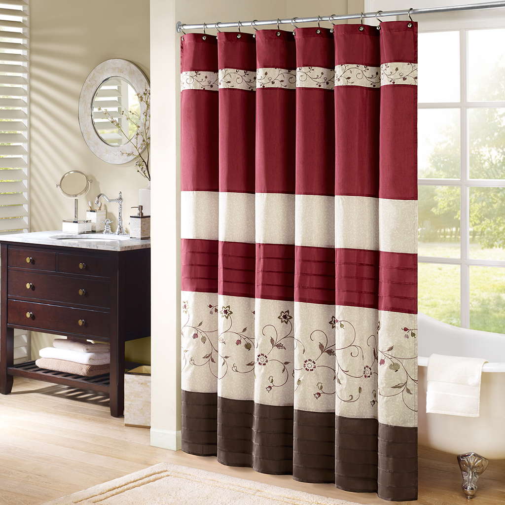 tan striped shower curtain. A Shower Curtain Fulfilled In Burgundy And Tan Colors Useful with regard to  sizing 1024 X Red Striped Curtains Ideas