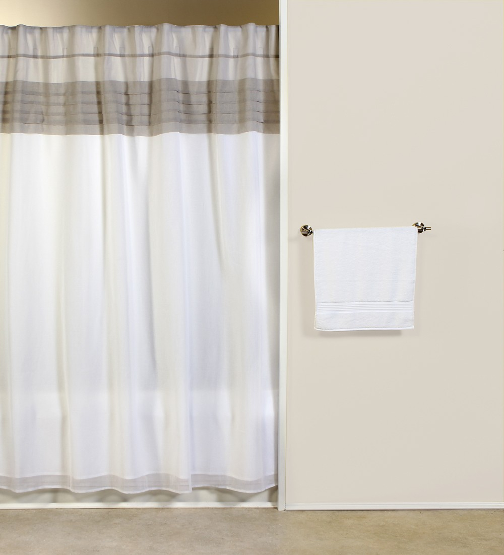 Absolute Geneva Fabric Shower Curtain With Matching Tailored with sizing 1000 X 1100