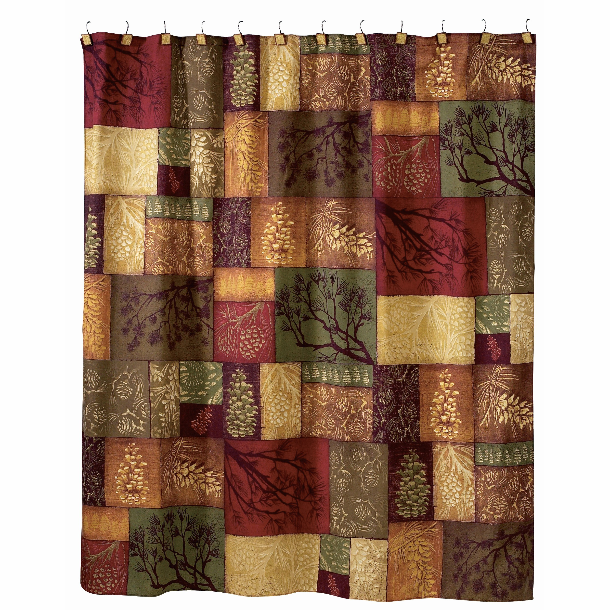 Adirondack Pine Cone Shower Curtain for measurements 2487 X 2487