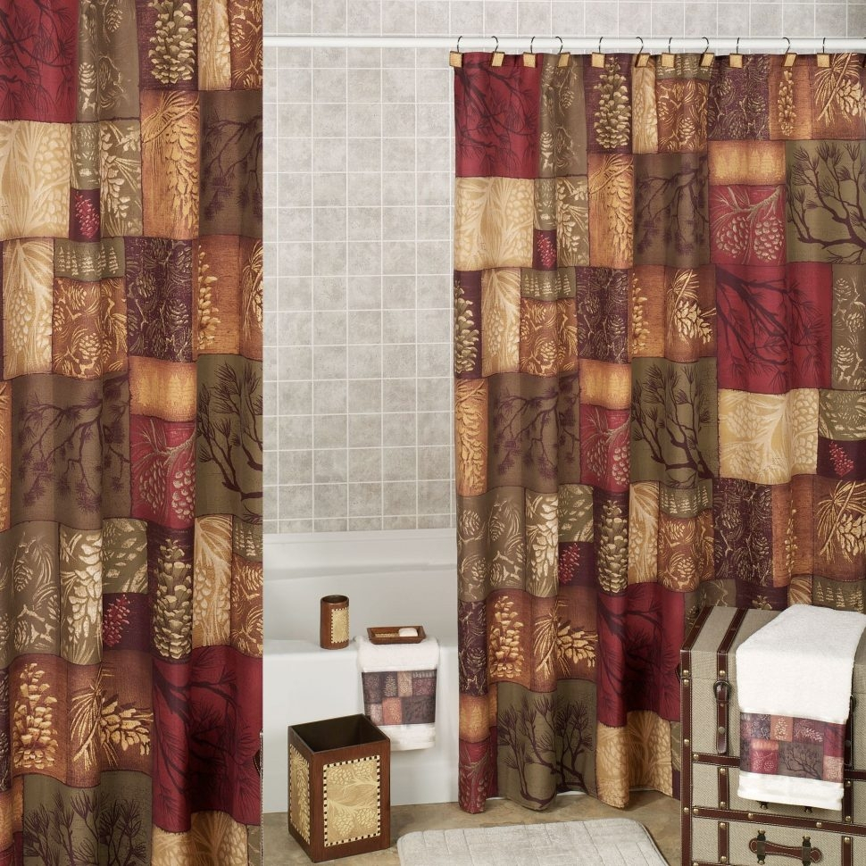 Adirondack Pine Cone Shower Curtain Shower Curtain in proportions 970 X 970