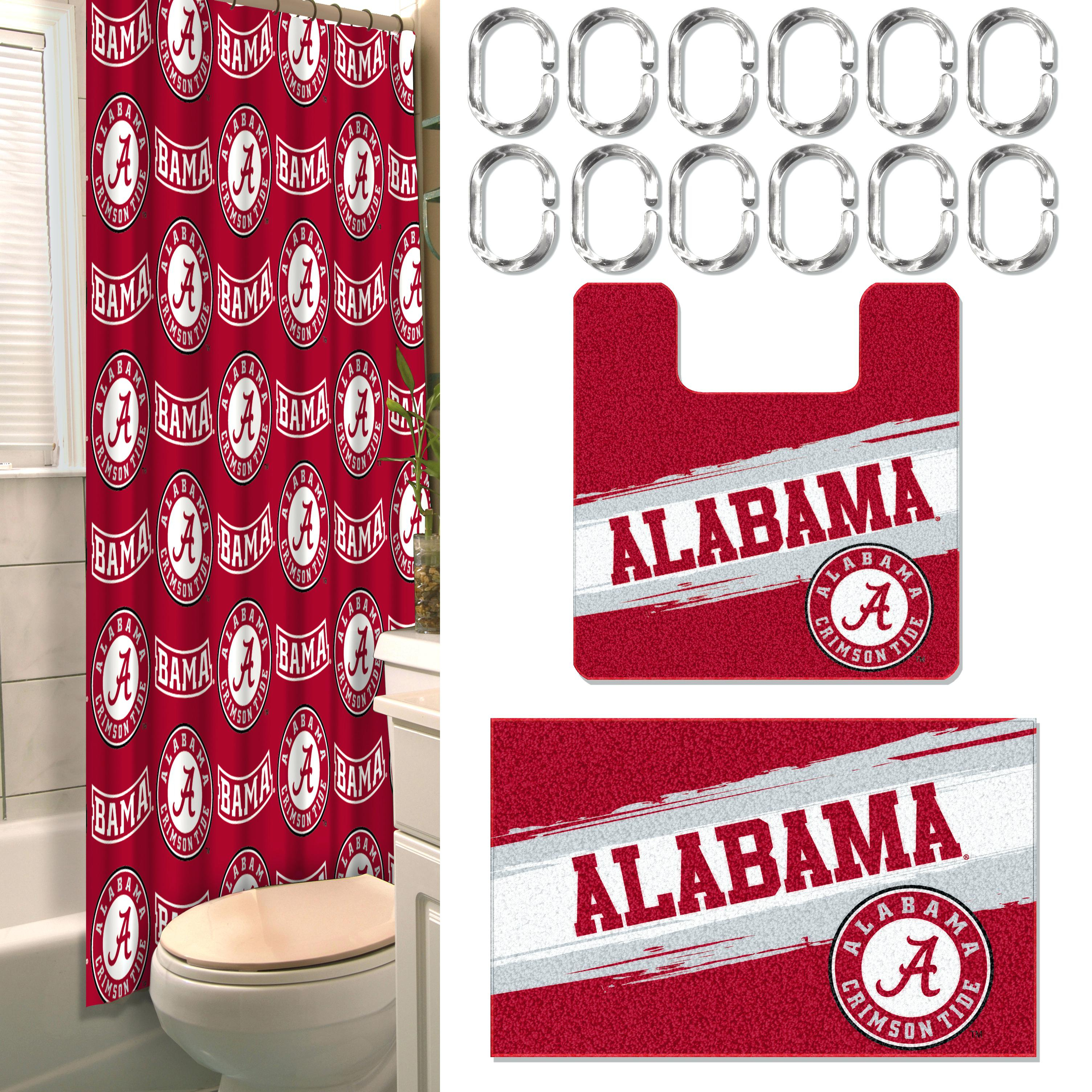 Football Shower Curtain Rings • Shower Curtains Ideas