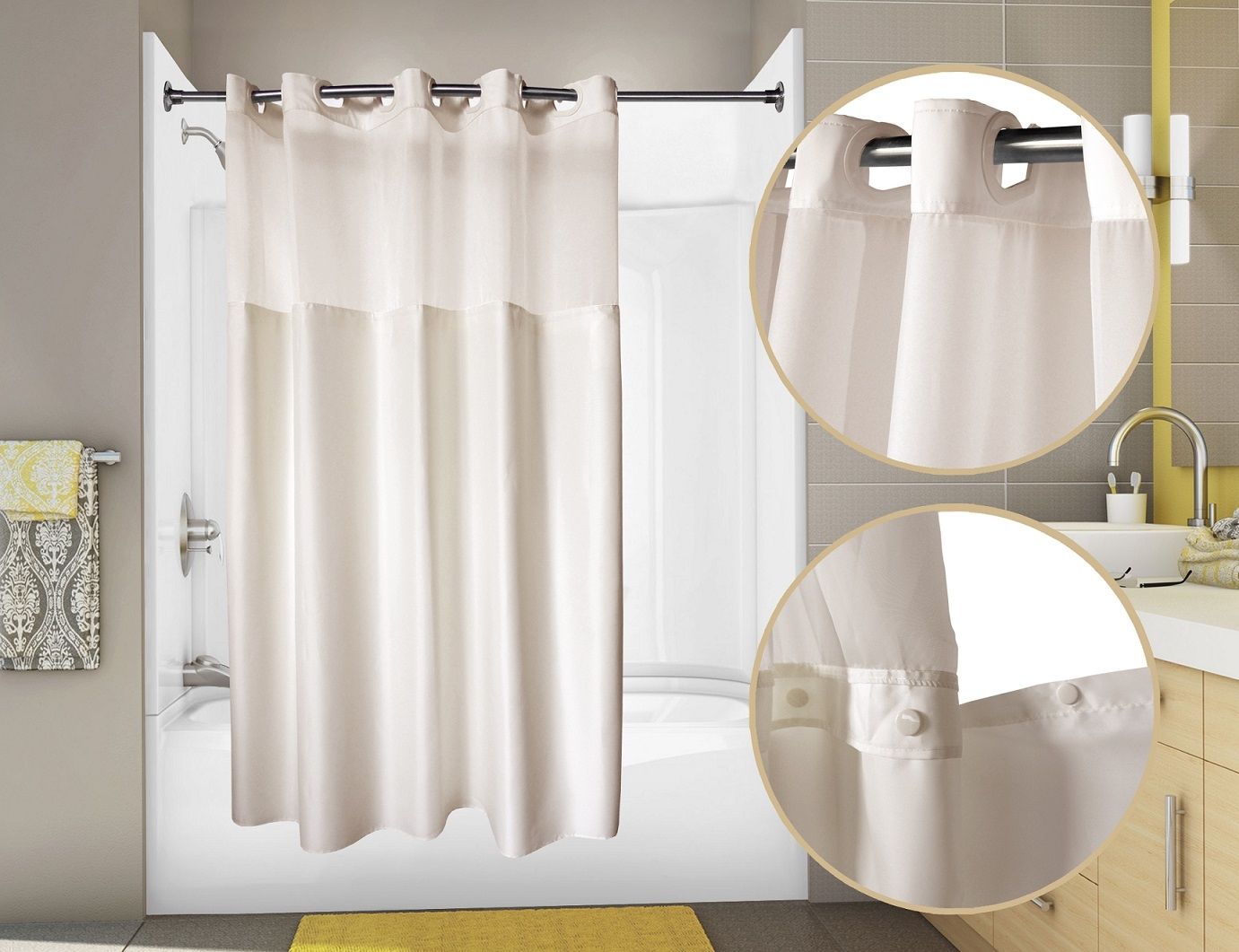 Alternative To Shower Curtain Liner Shower Curtains Design Intended For  Sizing 1381 X 1061