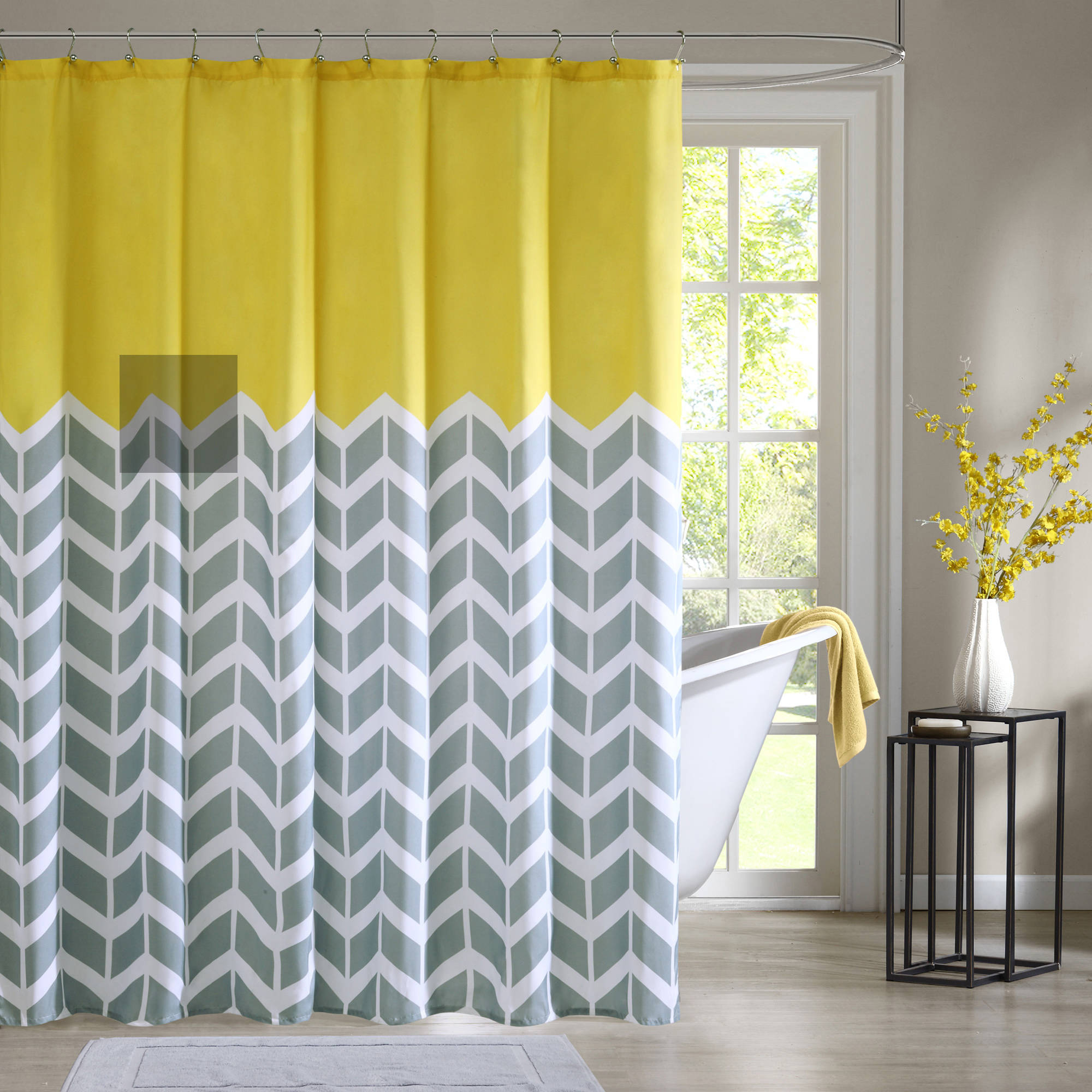 Blue And Grey Chevron Shower Curtain Shower Curtains Ideas