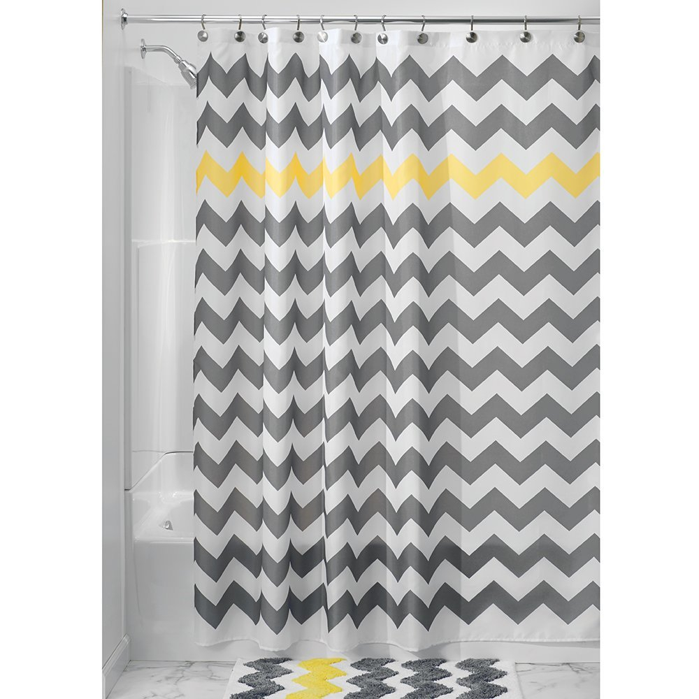 And Yellow Chevron Shower Curtain with regard to size 1000 X 1000