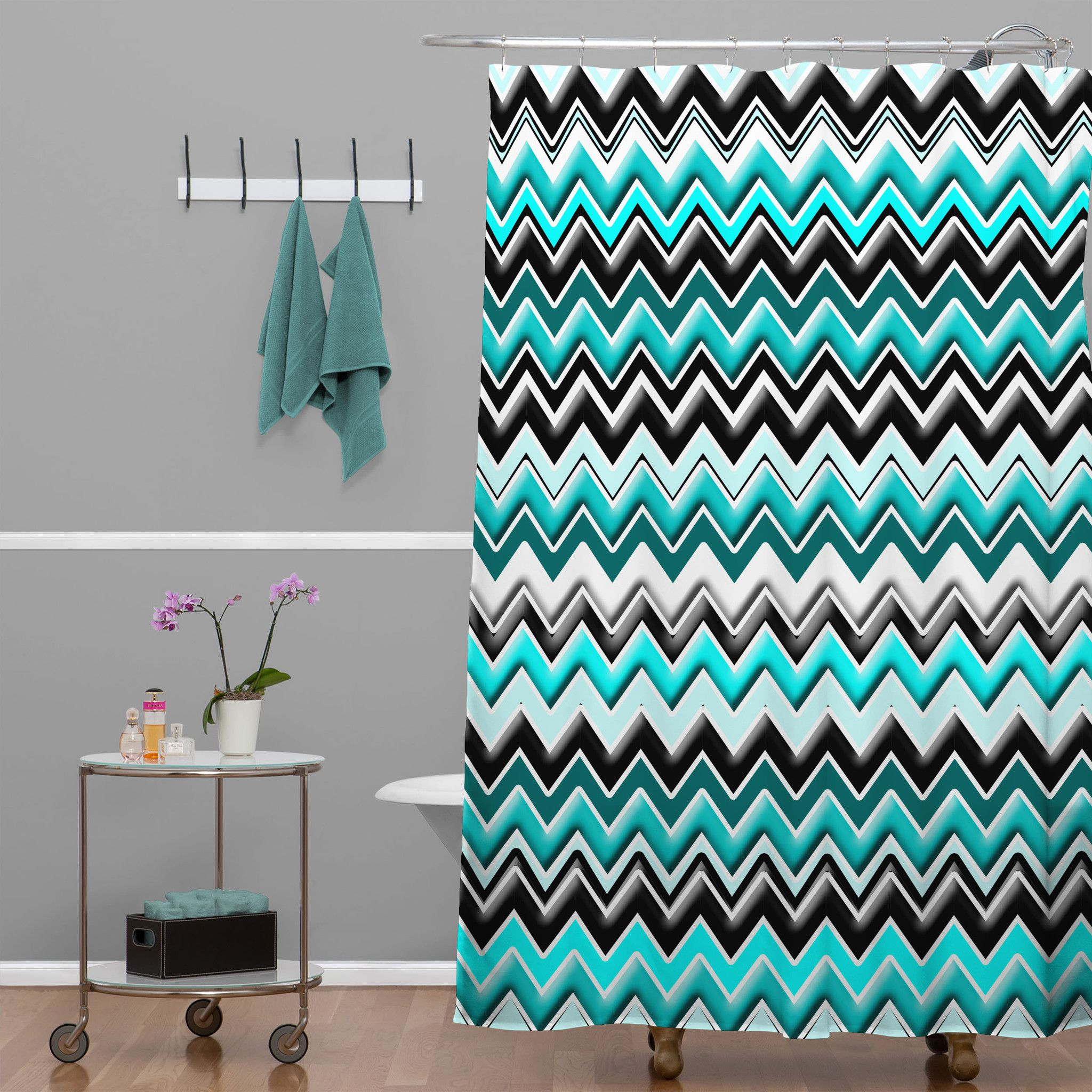 grey and coral shower curtain. Aqua And Grey Chevron Shower Curtain Curtains Design intended for  size 2048 X Coral Ideas