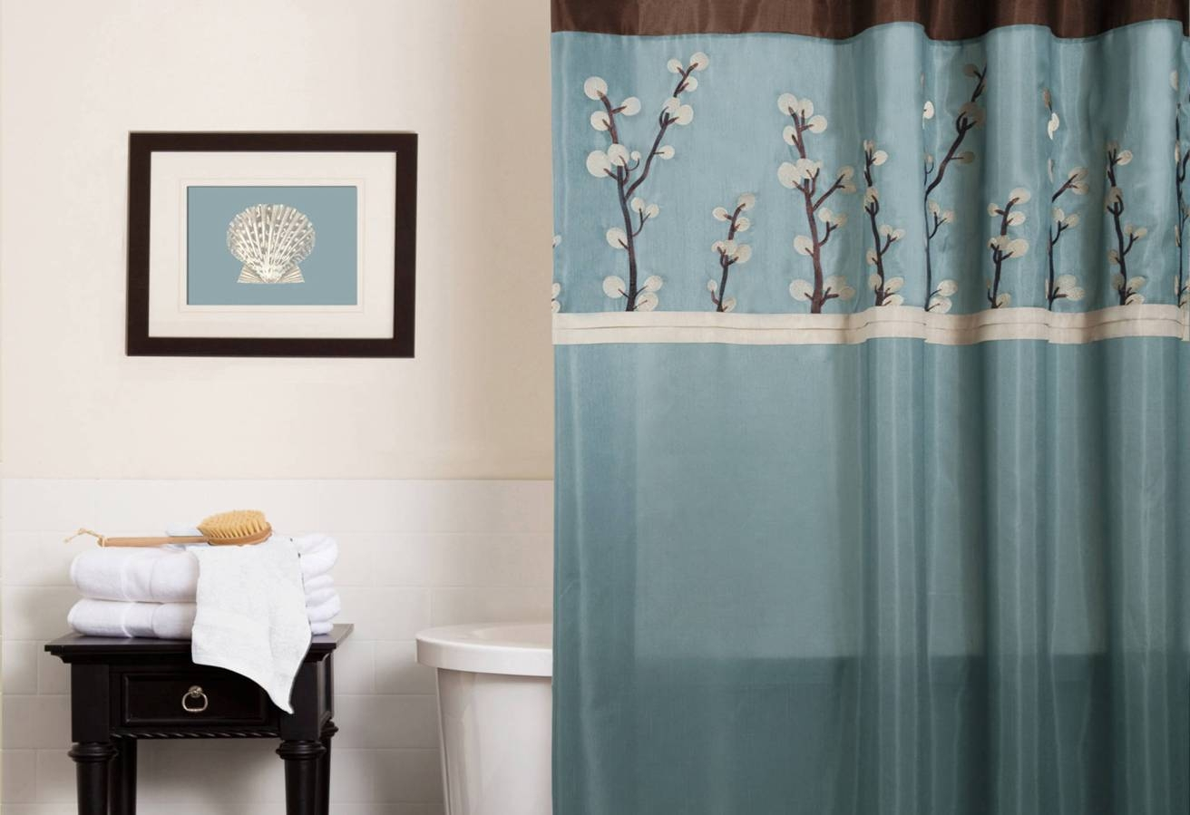 Aqua And White Chevron Shower Curtain Shower Curtain inside size 1312 X 899