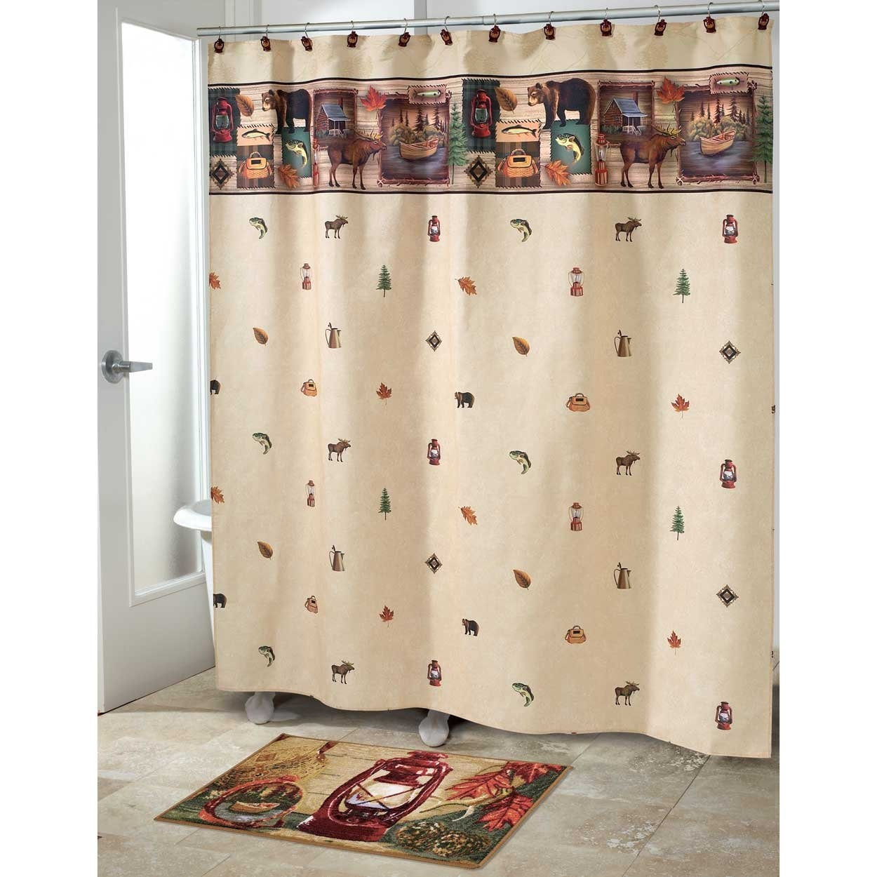 Adirondack Pine Shower Curtain Bathroom Accessories Designs