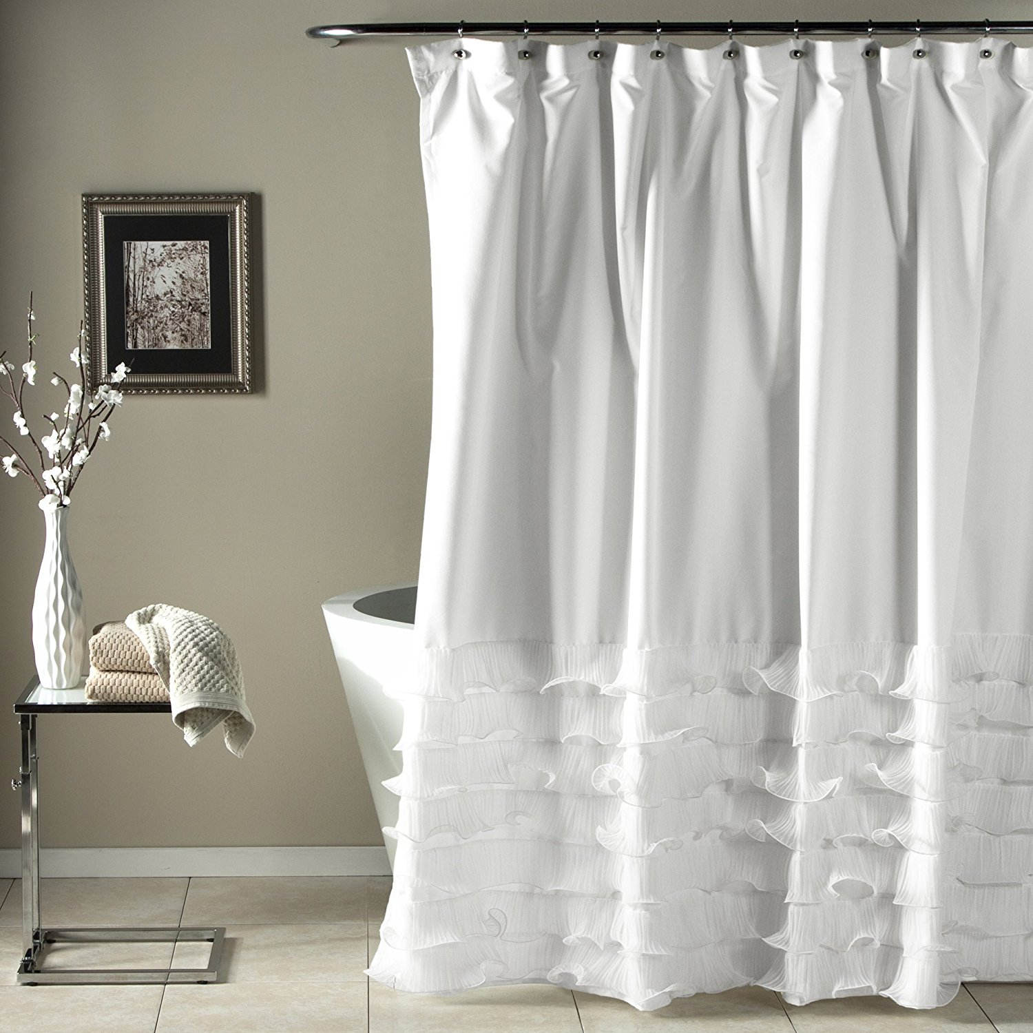 Avery Shower Curtain 72 72 Inch White Curtains Set 7piece intended for dimensions 1500 X 1500