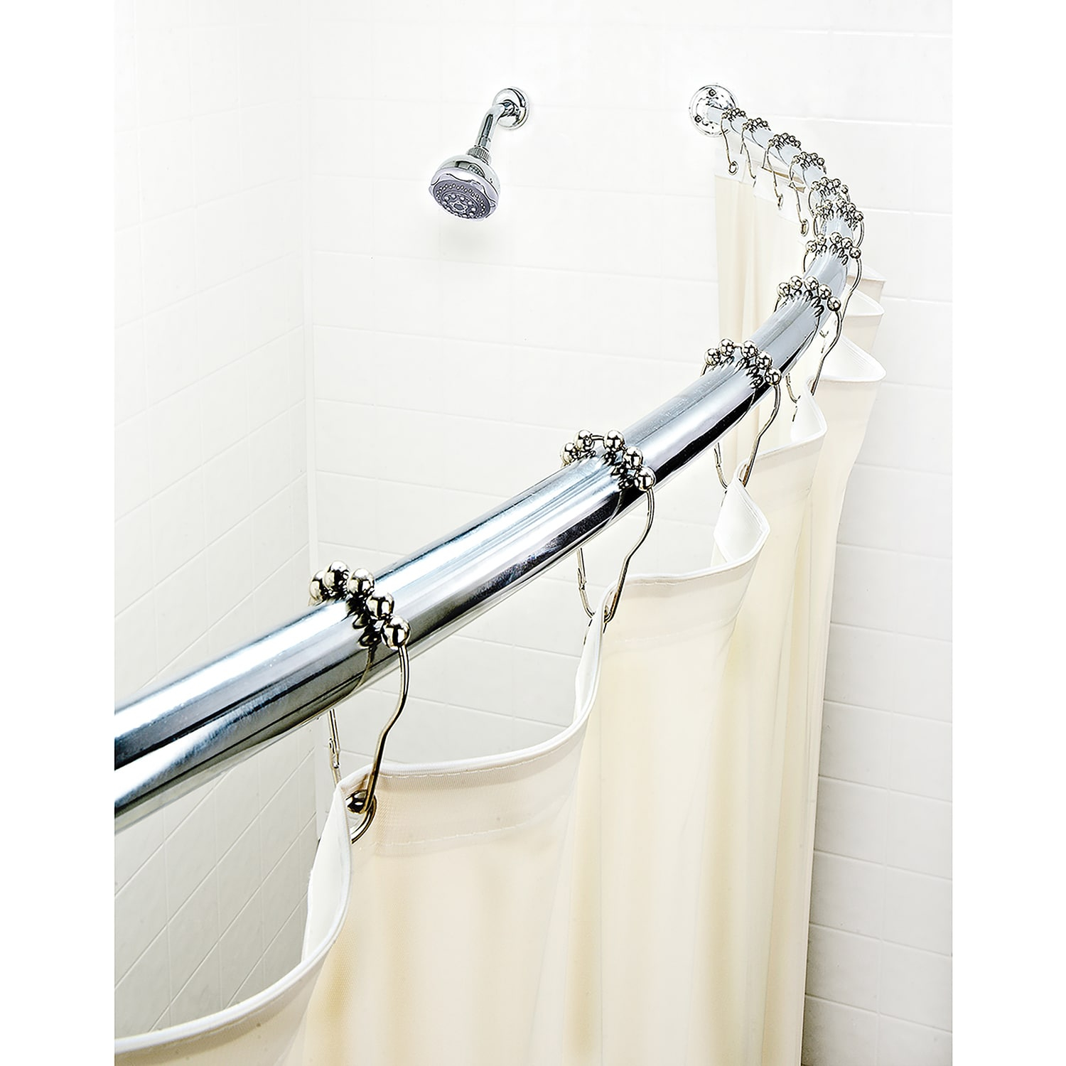 Bath Bliss Expandable 42 To 72 Inch Curved Shower Curtain Rod regarding sizing 1500 X 1500