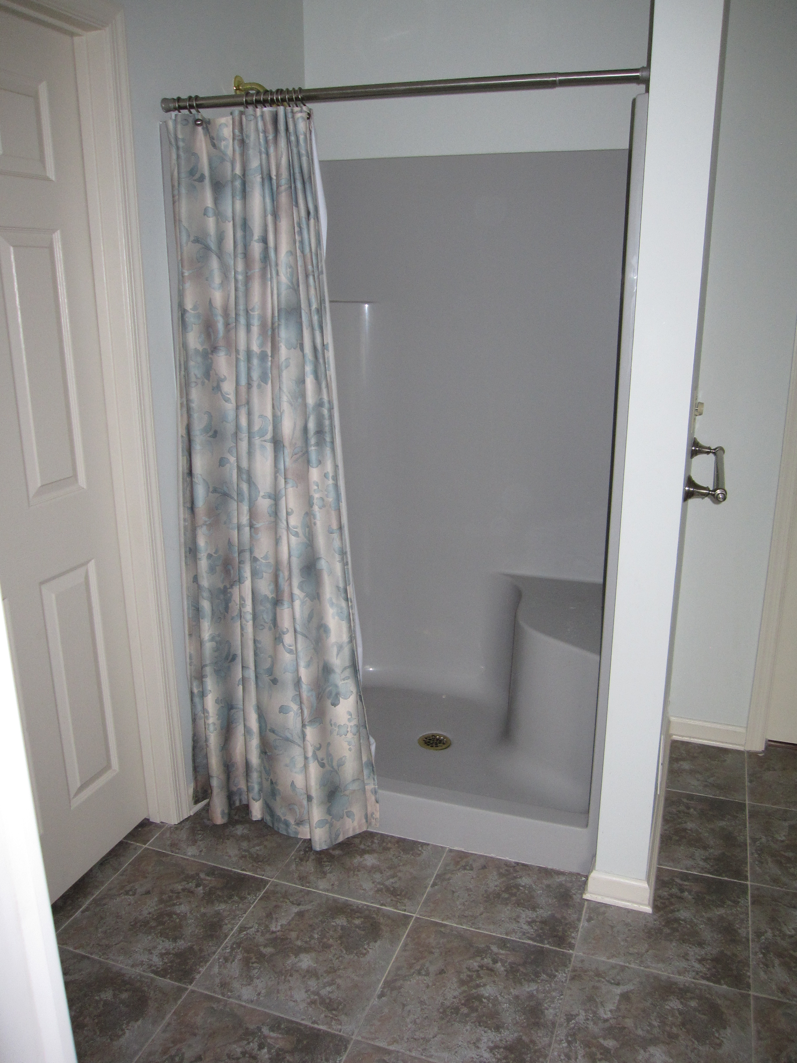 Bath Shower Fiberglass Stalls With Pattern Curtains And Regard To Sizing 2736 X 3648