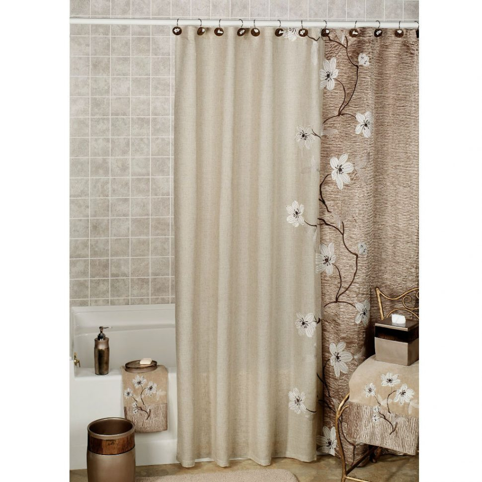 Bathroom 2017 Bathroom Interior White Flower Shower Curtain intended for proportions 970 X 970