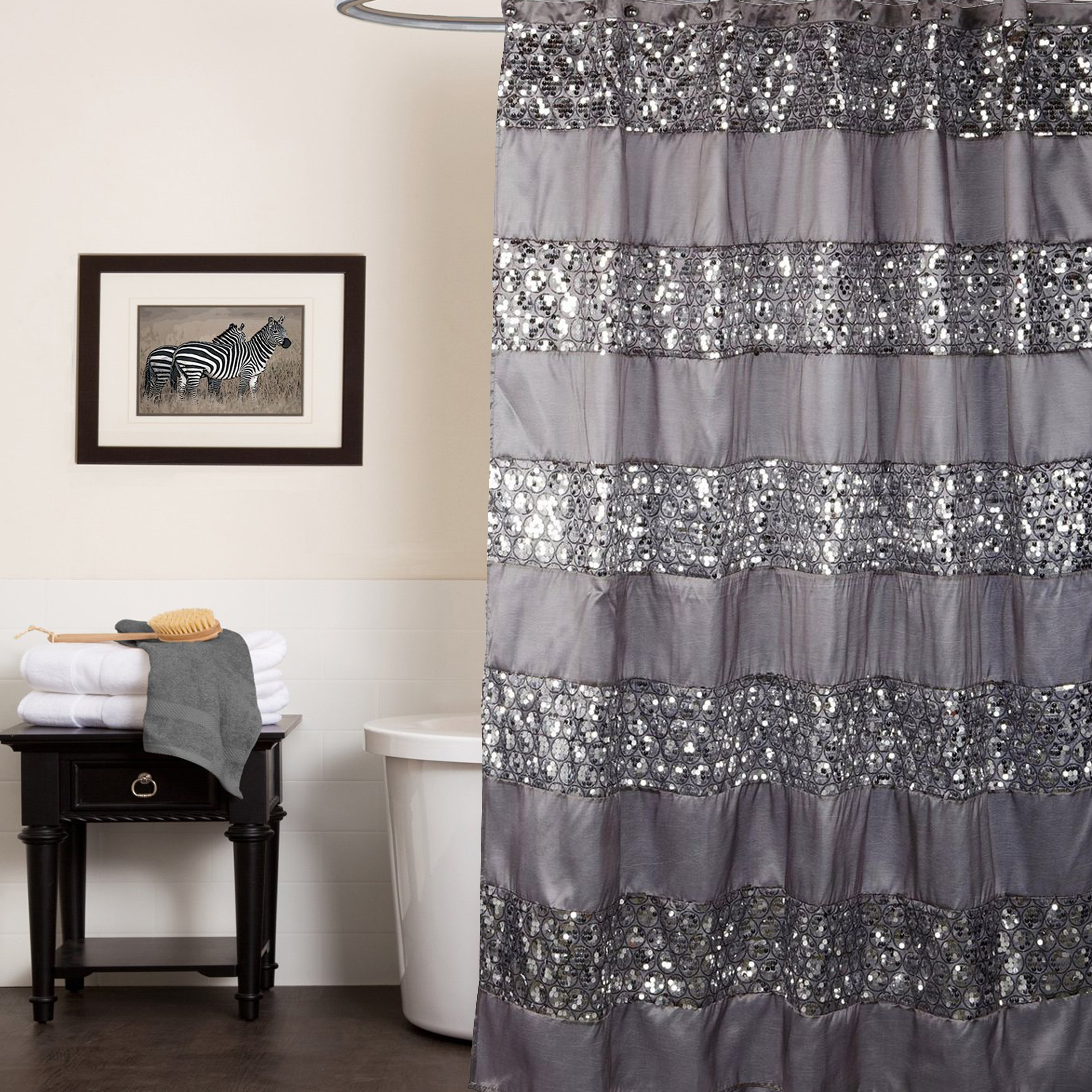 Bathroom Awesome Ruffle Shower Curtain For Decoration Bathroom intended for sizing 3500 X 3500
