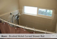 Bathroom Curved Shower Curtain Rod In Silver For Shower Room in dimensions 1280 X 720