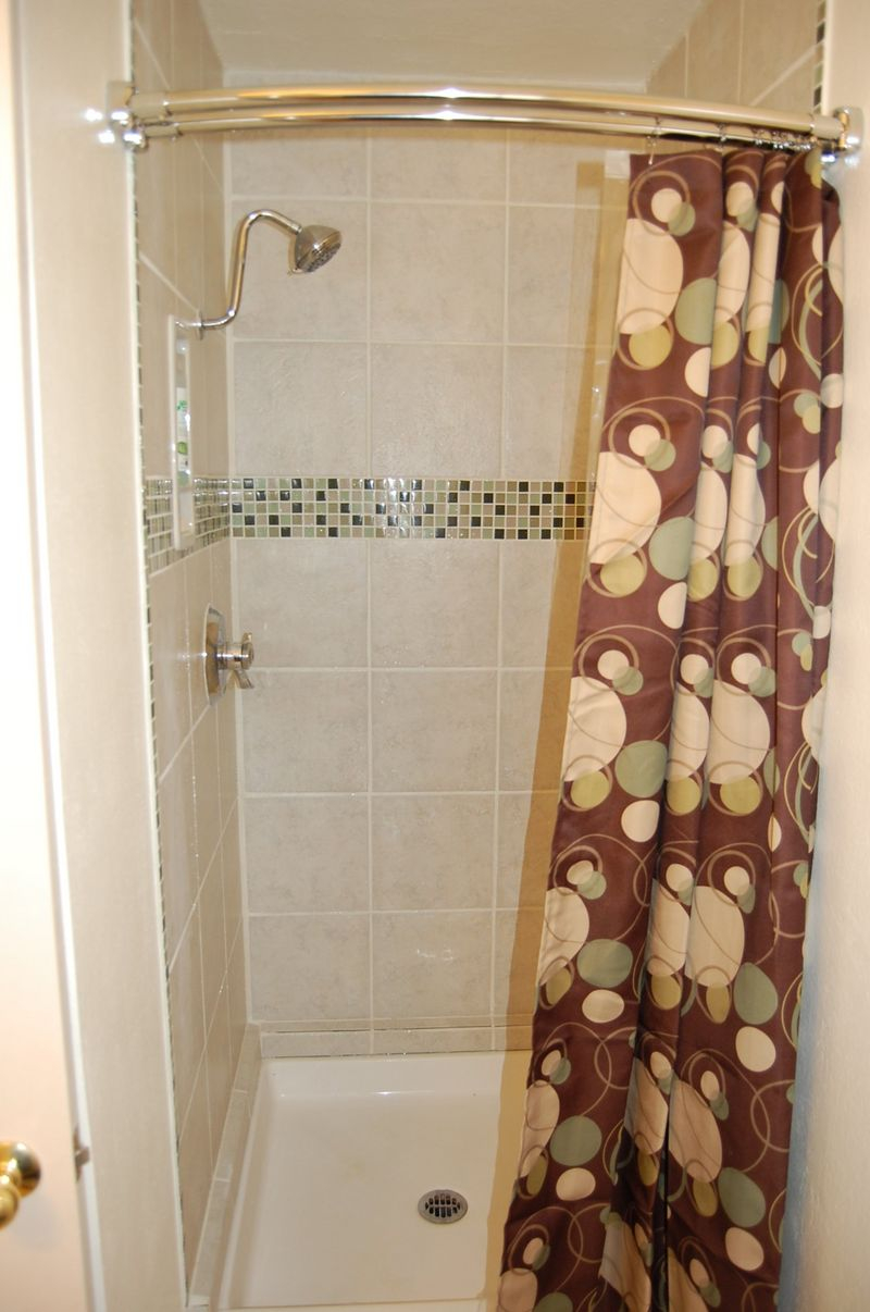 Bathroom Design Lovely Curved Shower Curtain Rod With Shower And within proportions 800 X 1206