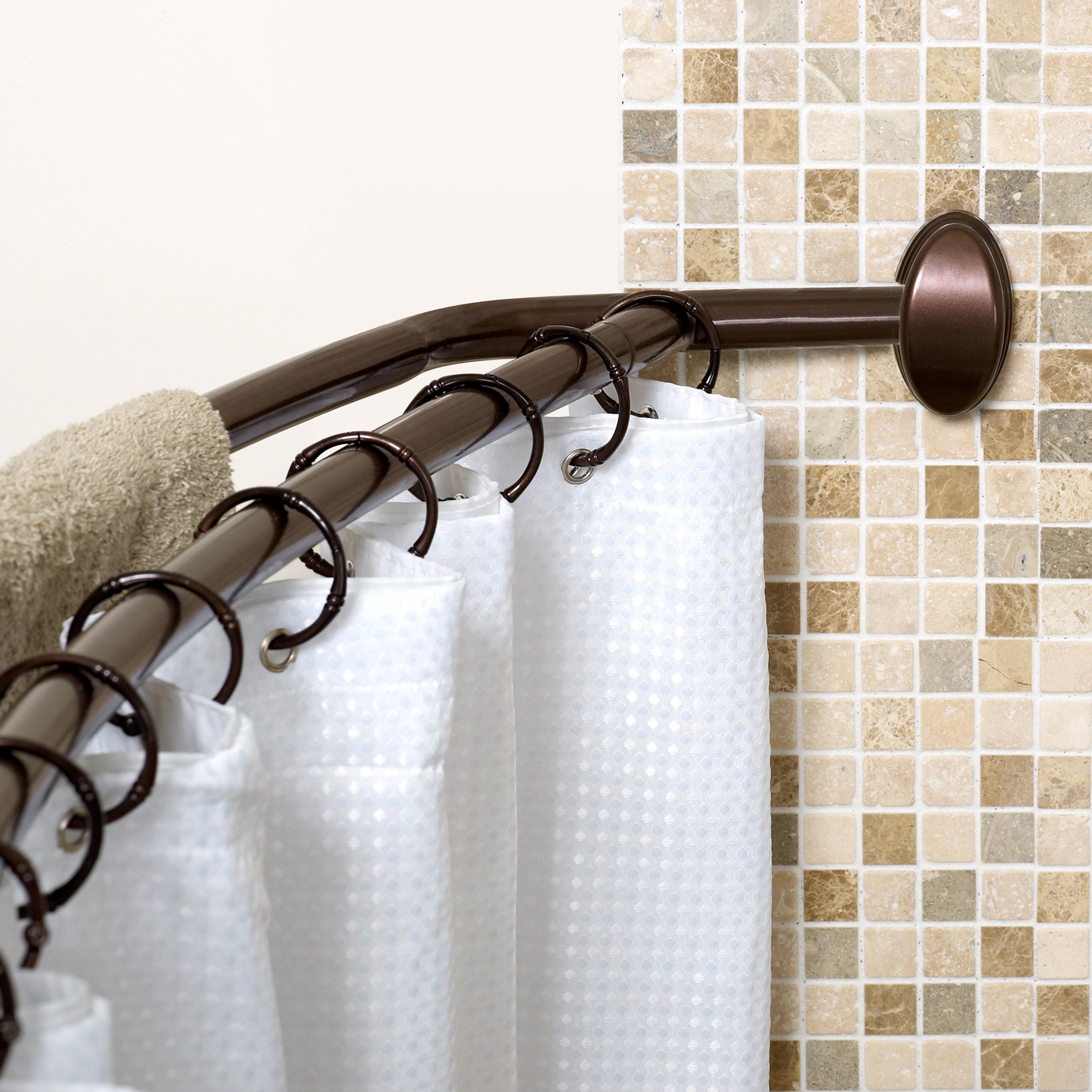Stainless Steel Shower Curtain Rod Curved • Shower Curtains Ideas