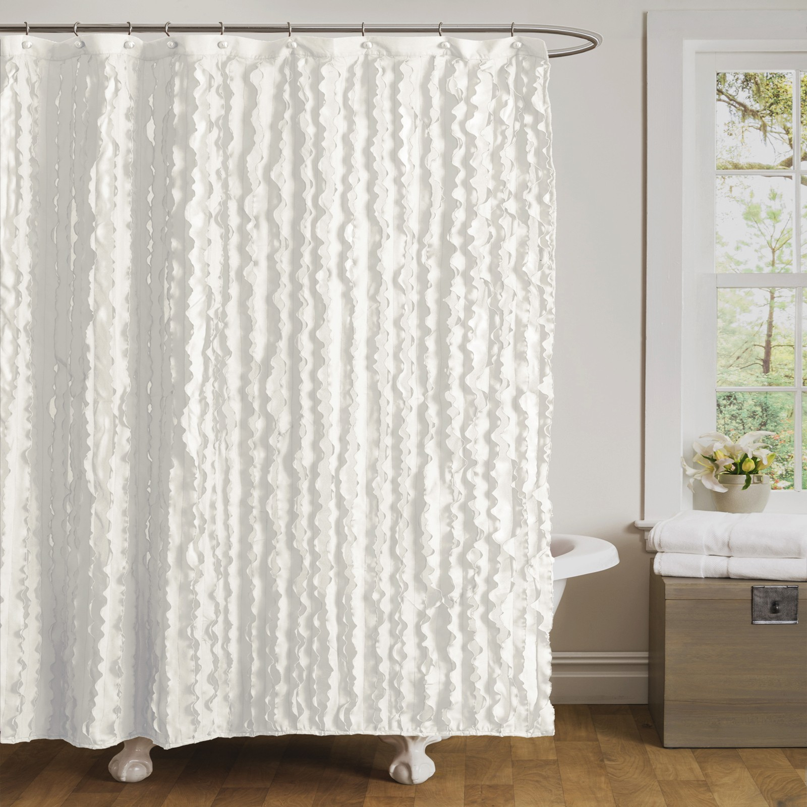 Bathroom Extra Long Ruffle Shower Curtain Shower Curtain For with measurements 1600 X 1600