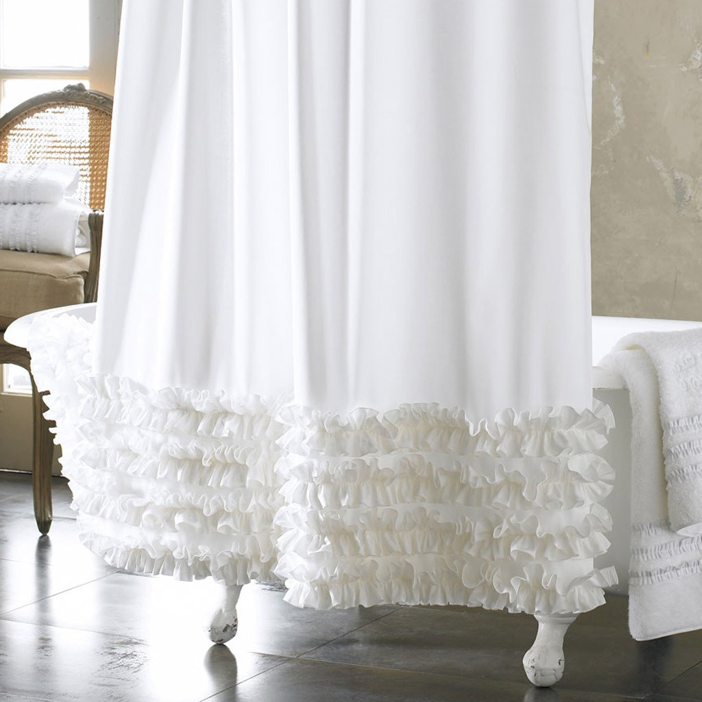 Bathroom Extra Long Ruffle Shower Curtain Shower Curtain For within measurements 1024 X 1024
