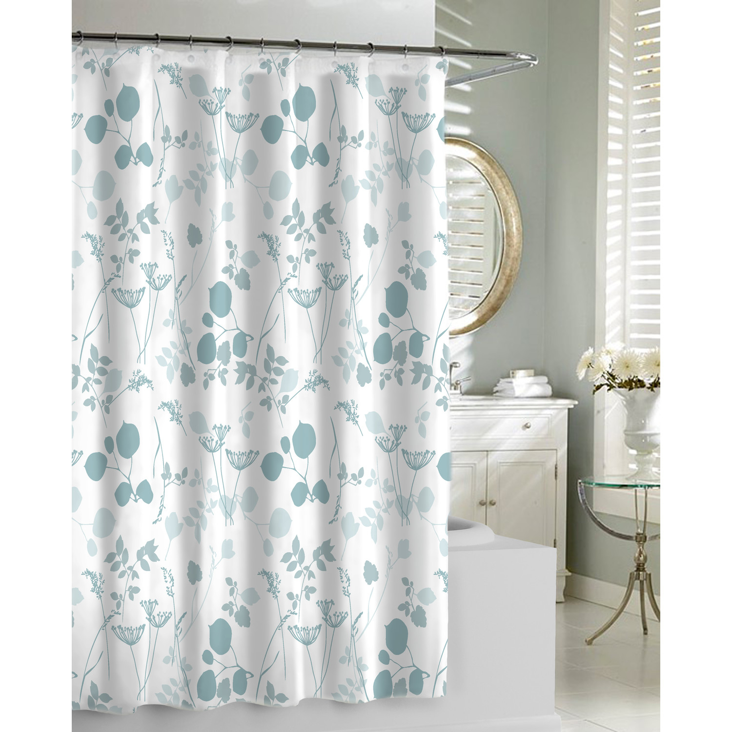 Blue White And Grey Shower Curtain • Shower Curtains Ideas