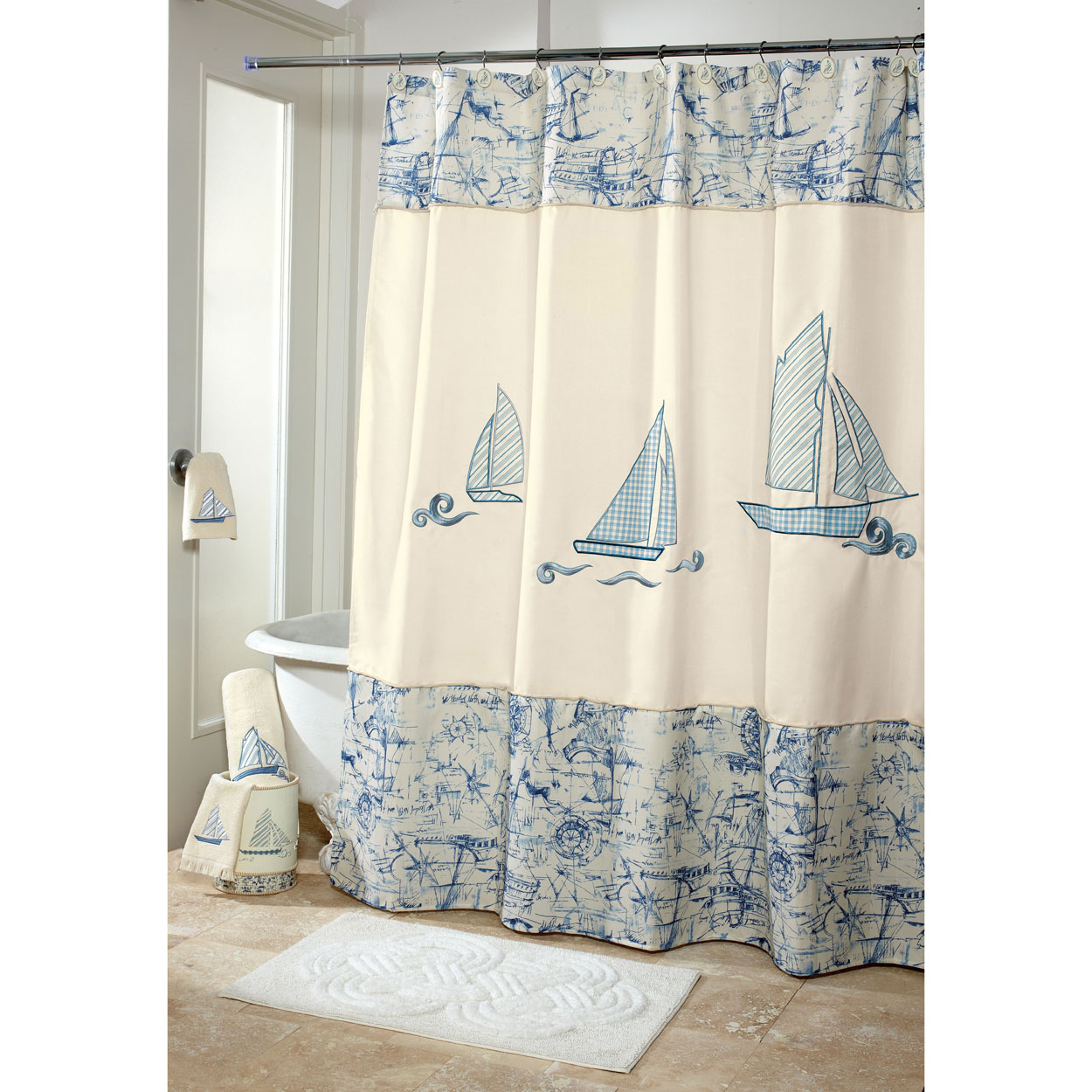 Nautical Bathroom Shower Curtains Bathroom Design Ideas