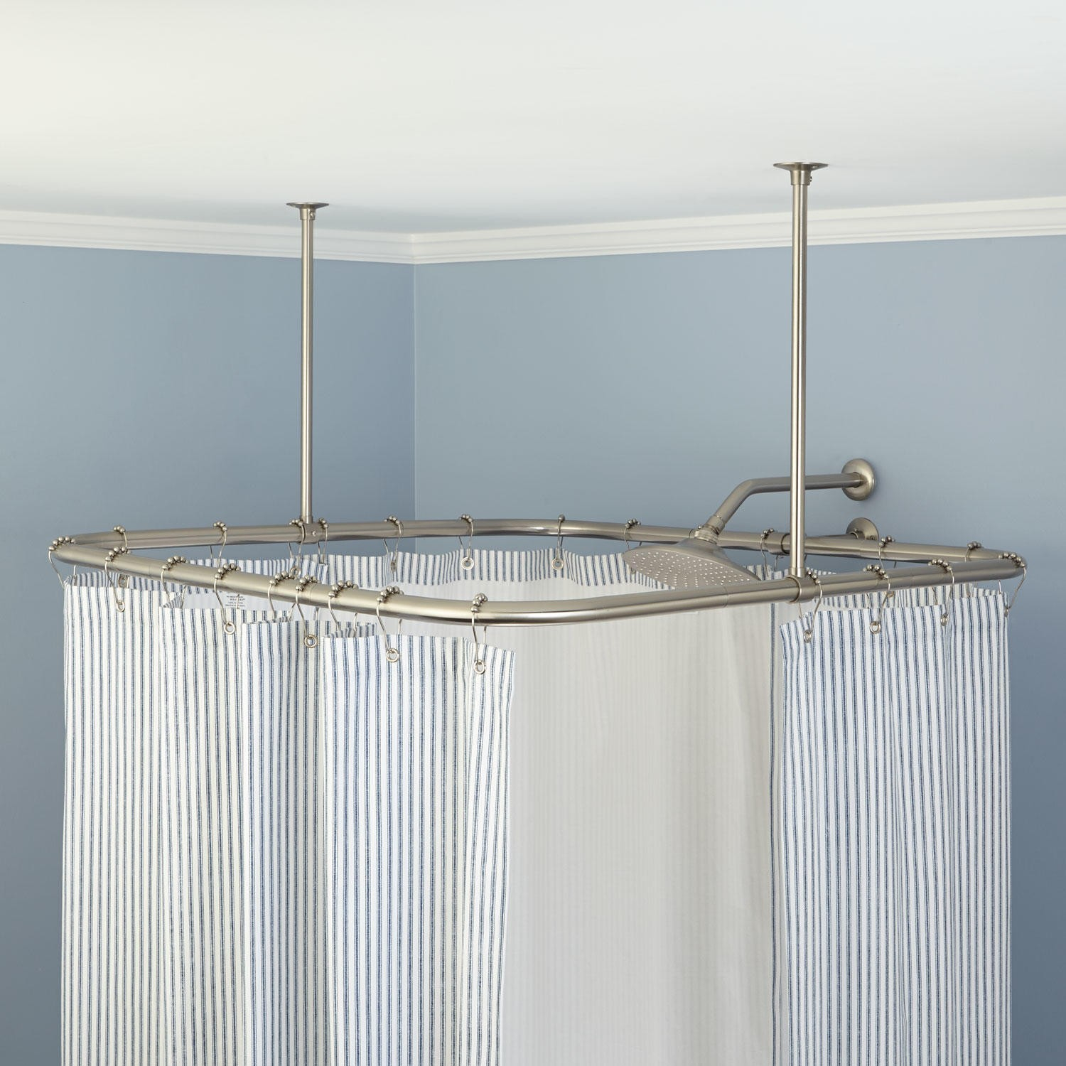Bathroom Use Ceiling Mounted Shower Curtain Rods As Your with measurements 1500 X 1500