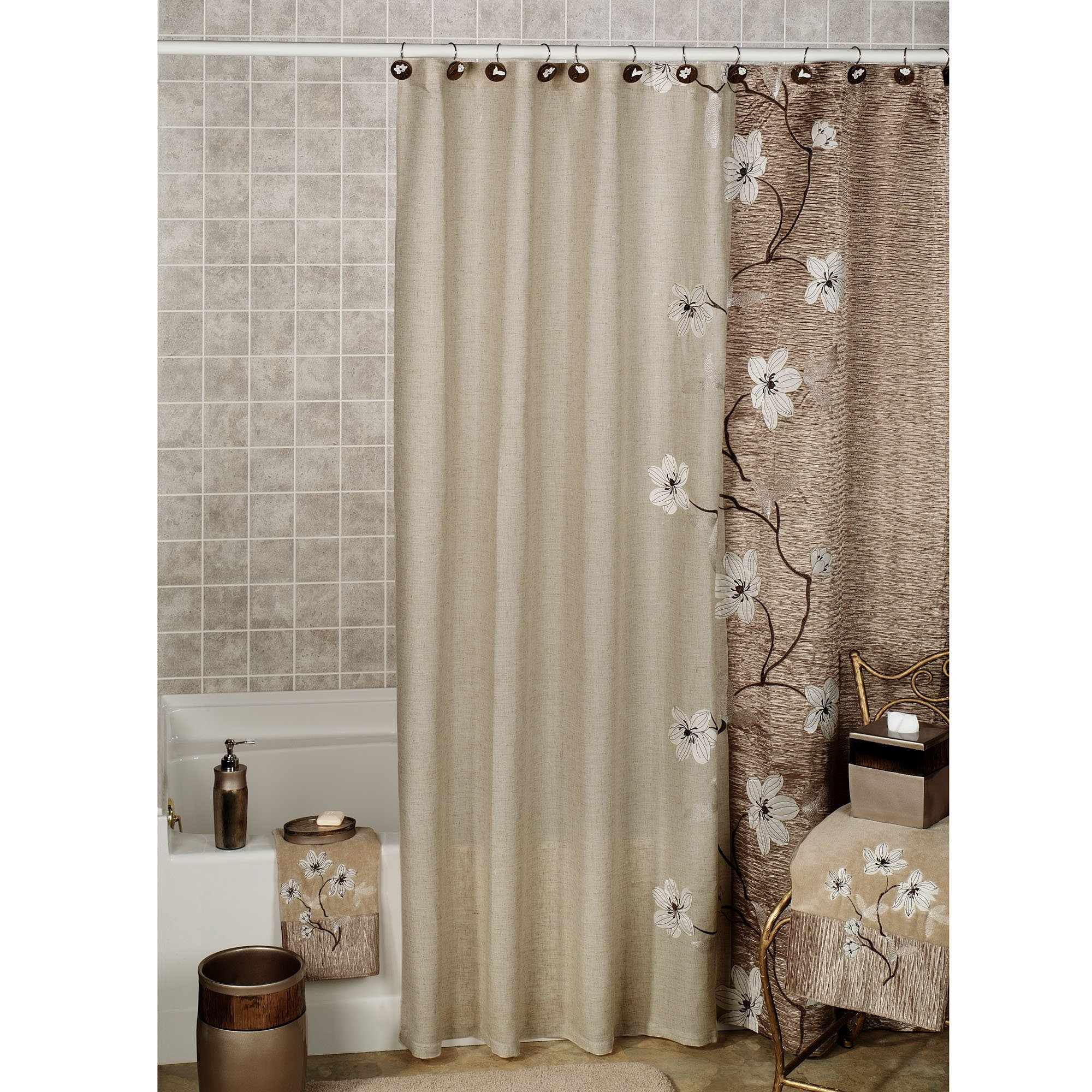 Bathroom Shower Curtain And Window Curtain Sets • Shower Curtains ...