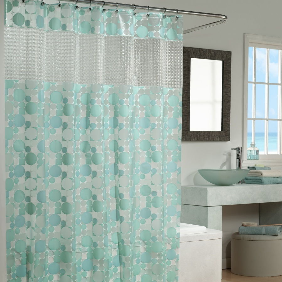 Beautiful Vinyl Shower Curtains Design The Homy Design Vinyl Intended For  Proportions 900 X 900