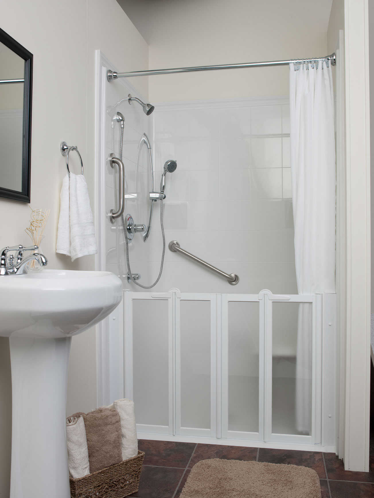 Small Shower Stall Curtain Rod • Shower Curtains Ideas
