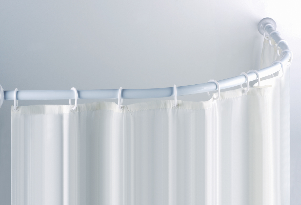 Best L Shaped Shower Curtain Rod Track All About House Design with regard to measurements 1264 X 860