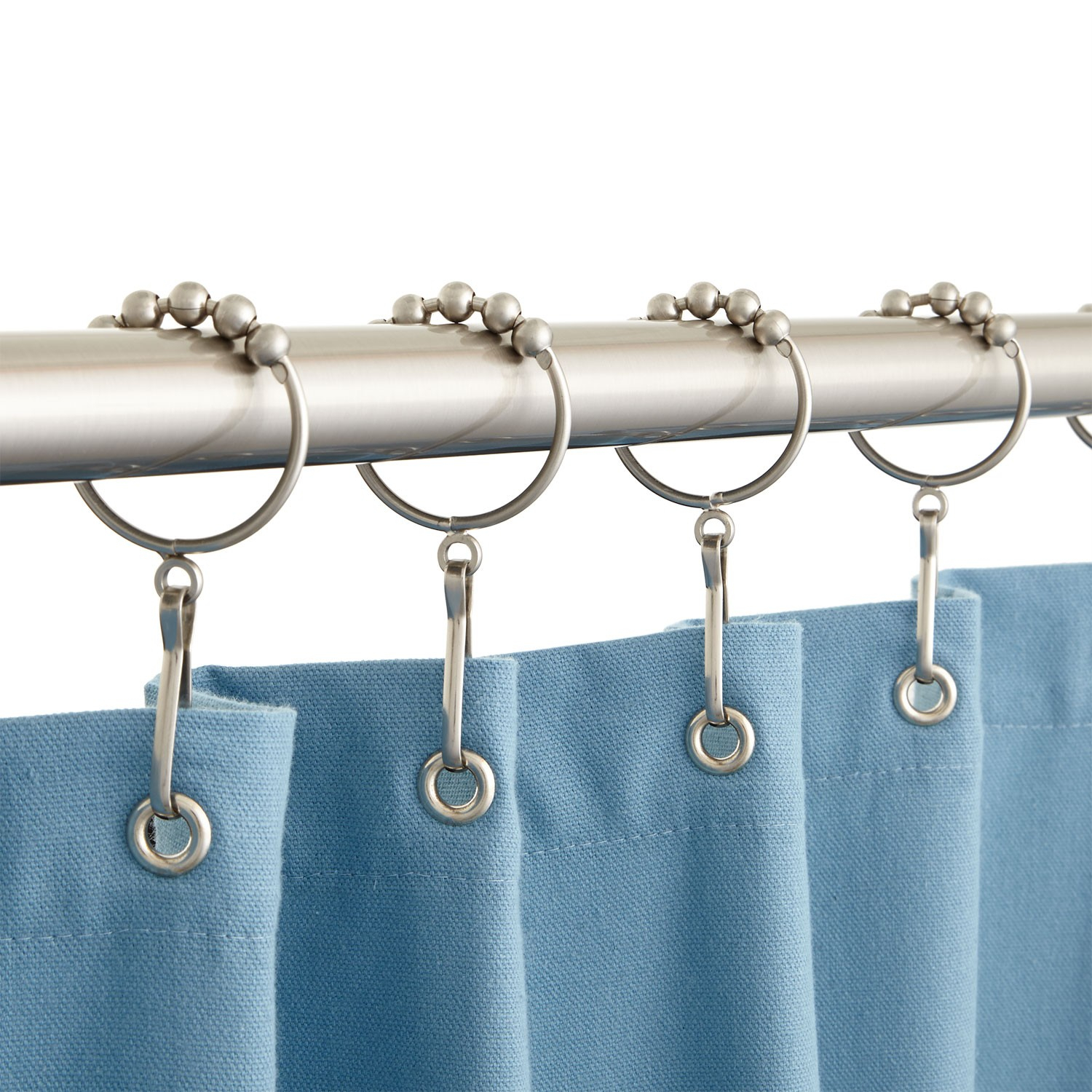Large Oversized Heavy Duty Shower Curtain Rings • Shower Curtains ...
