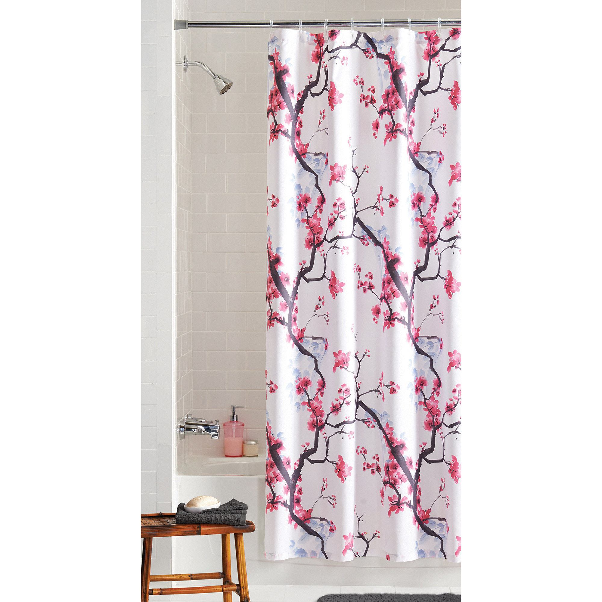 Better Homes And Gardens Jeweled Damask 70 X 72 Polyester Shower for proportions 2000 X 2000