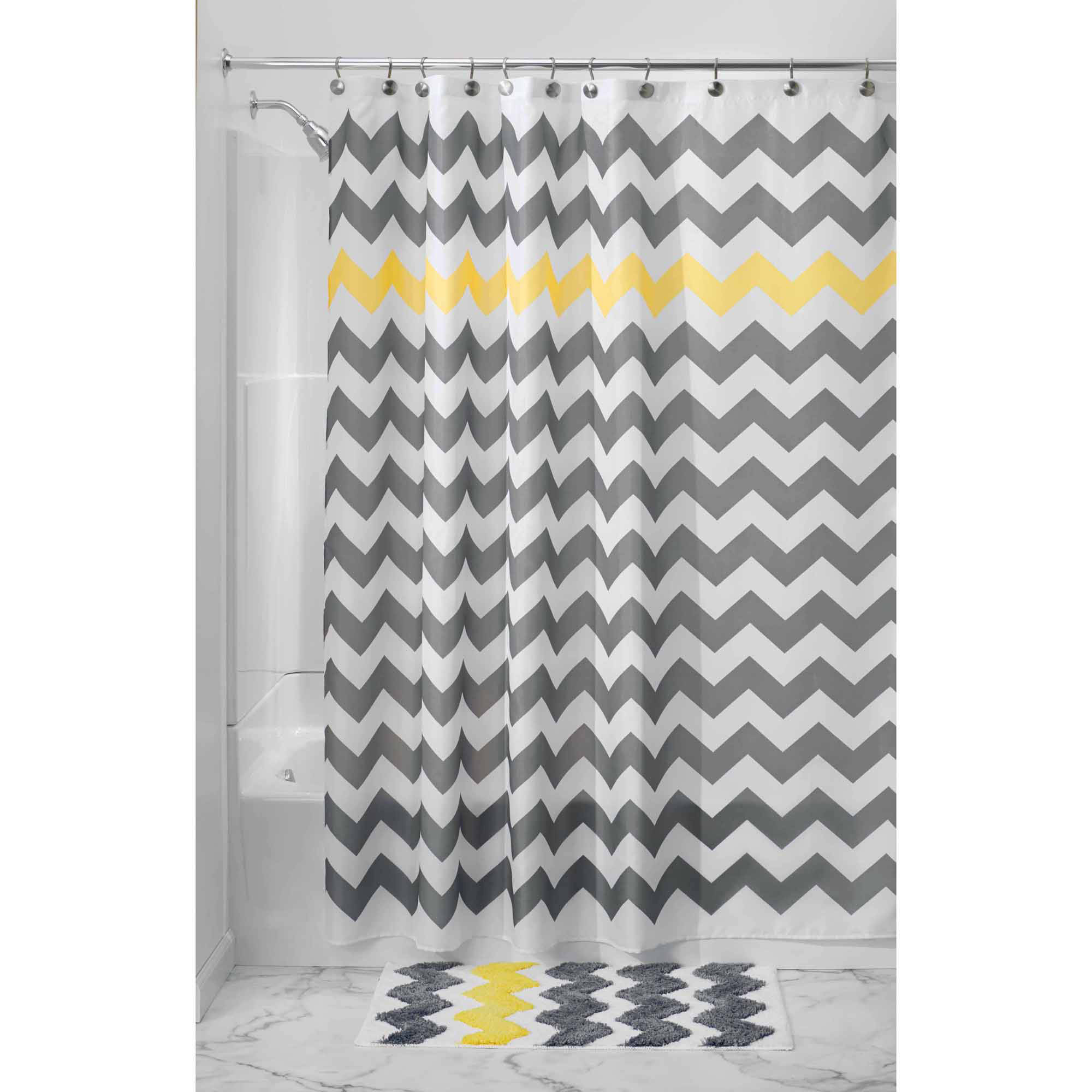 Better Homes And Gardens Metallic Ikat Dou Fabric Shower Curtain intended for dimensions 2000 X 2000