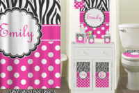 Black And Pink Zebra Shower Curtain Shower Curtains Design with sizing 1376 X 1500
