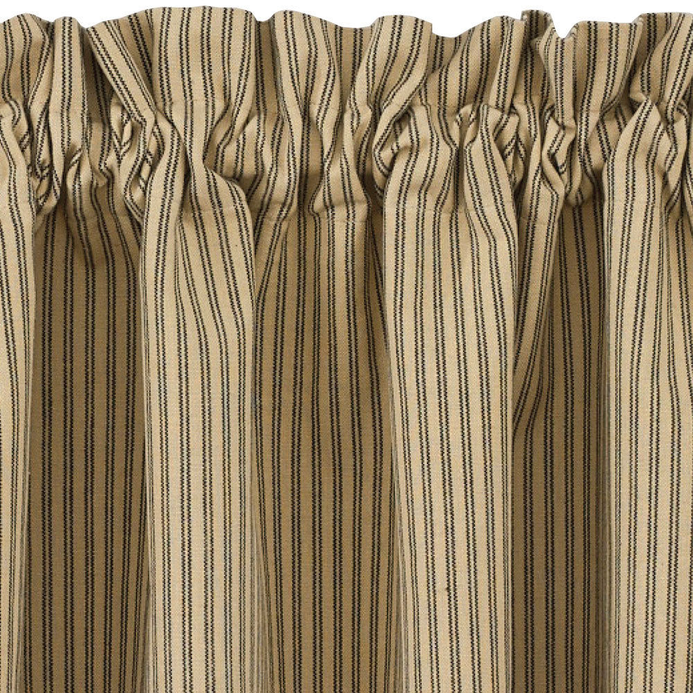 Black And Tan Ticking Stripe Curtain Tiers Primitive Star 24 And pertaining to measurements 1000 X 1000
