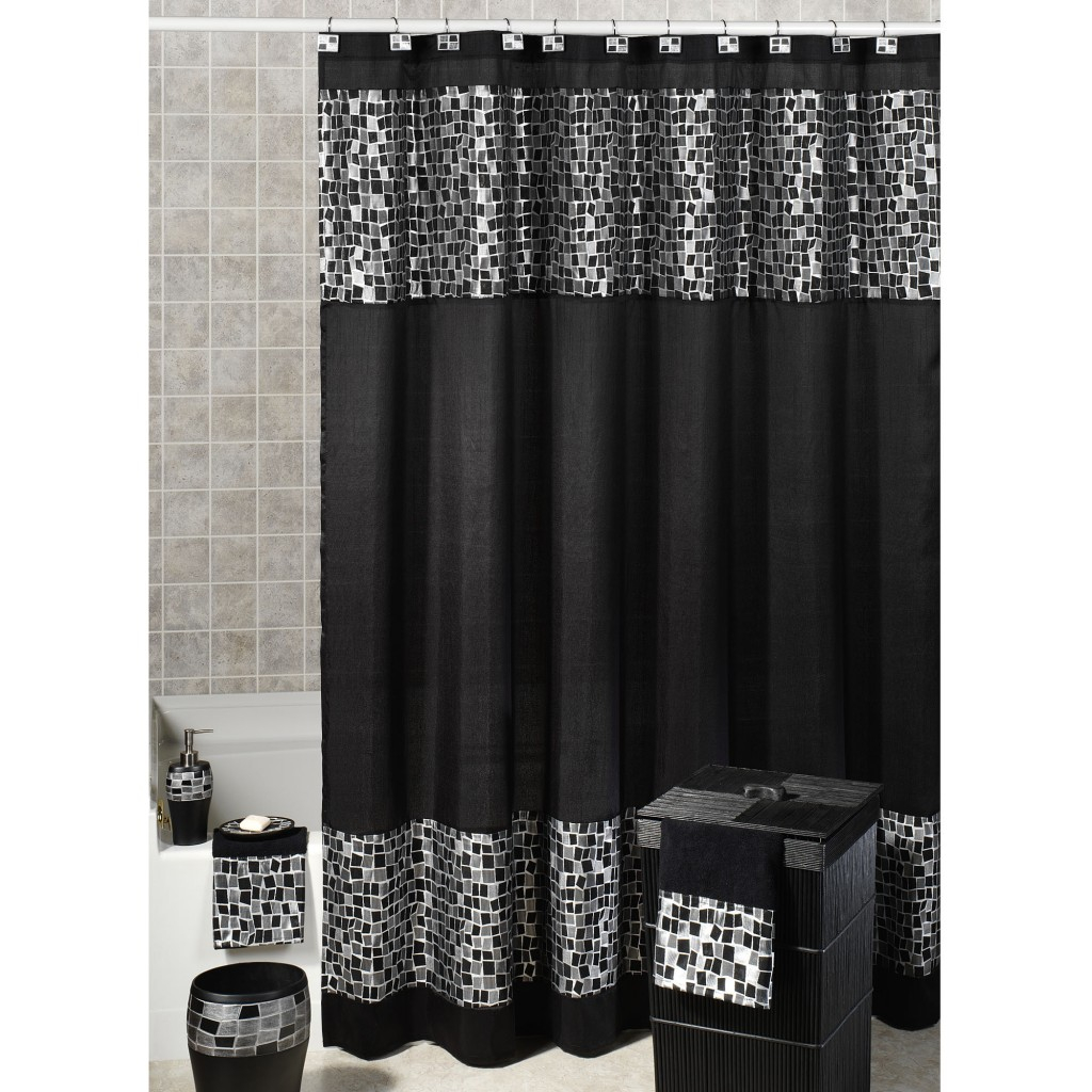 Black And White And Gray Curtains For Shower Useful Reviews Of in proportions 1024 X 1024