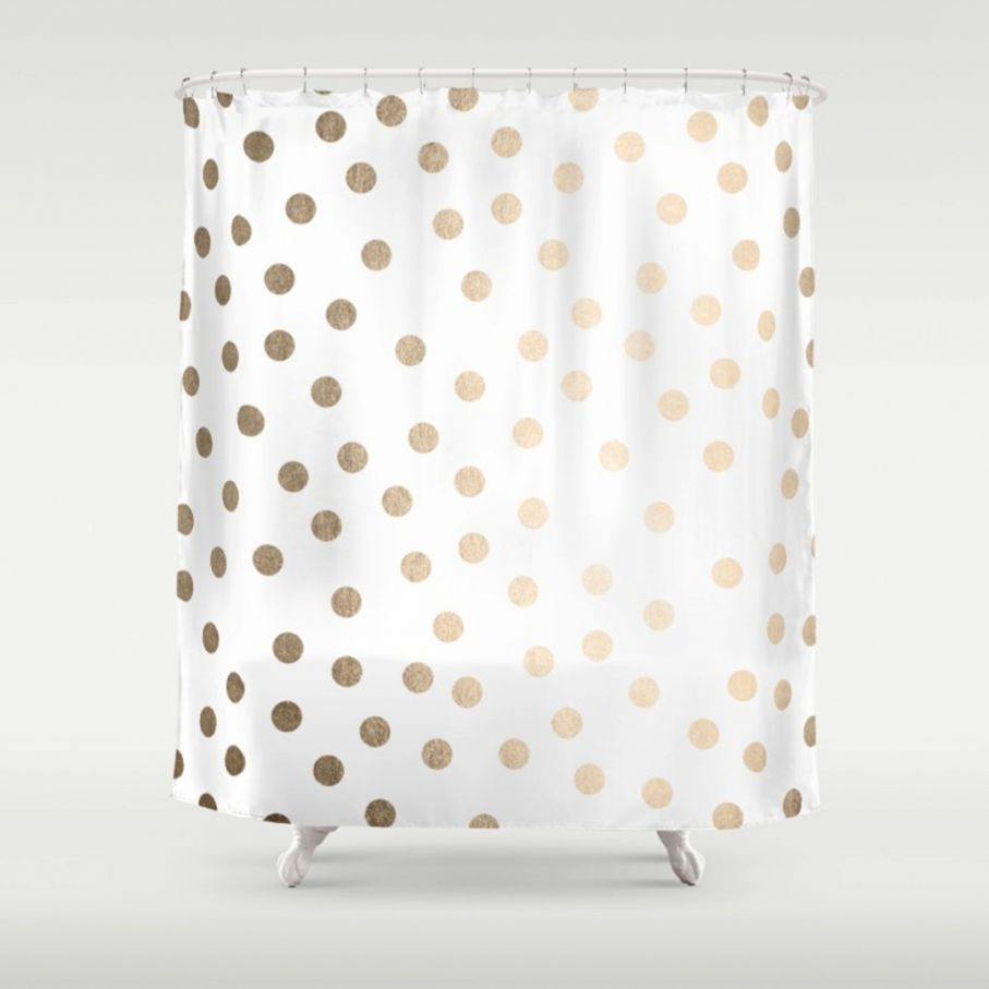 Brown And Teal Polka Dot Shower Curtain • Shower Curtains Ideas