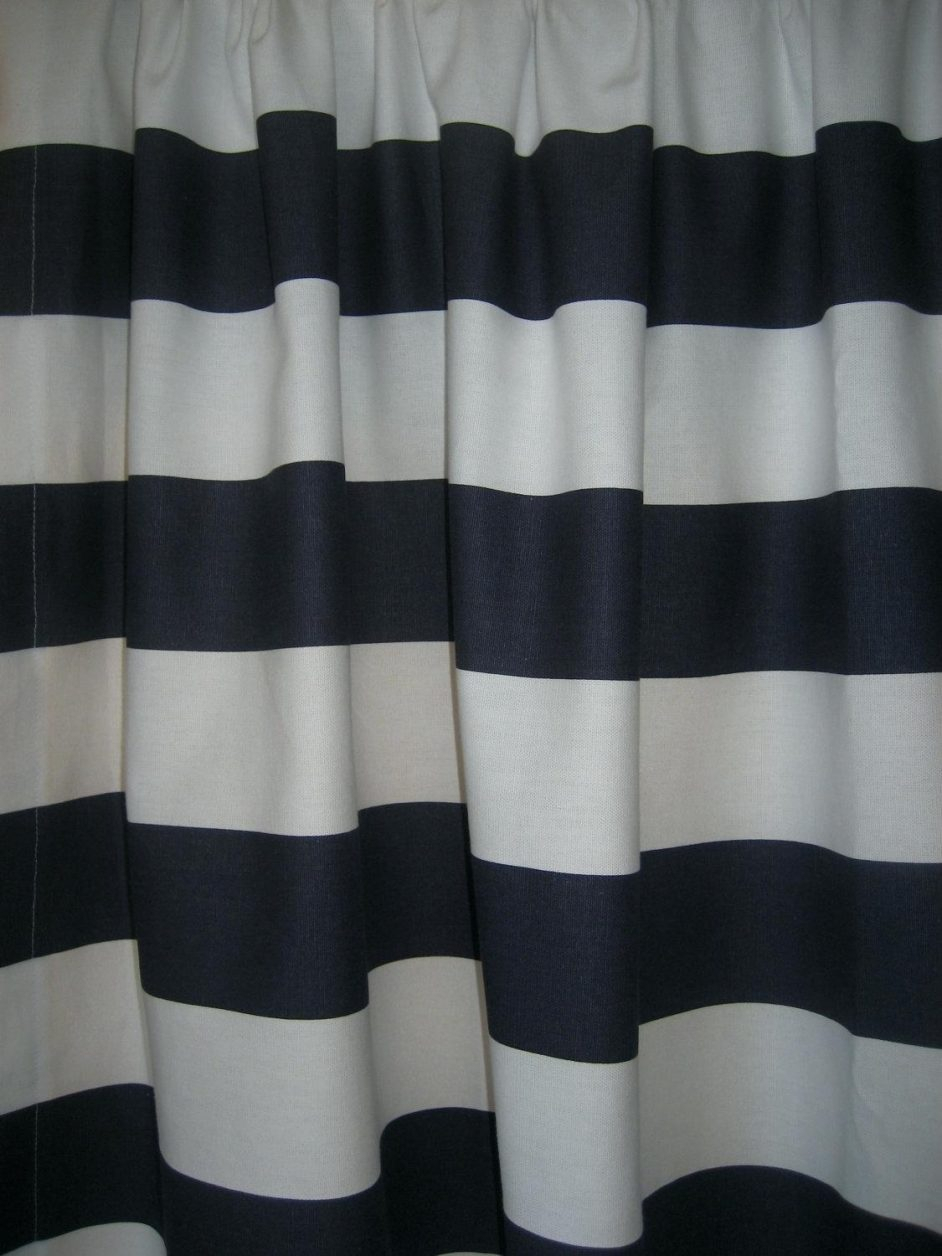 Striped Shower Curtain Black And White • Shower Curtains Ideas