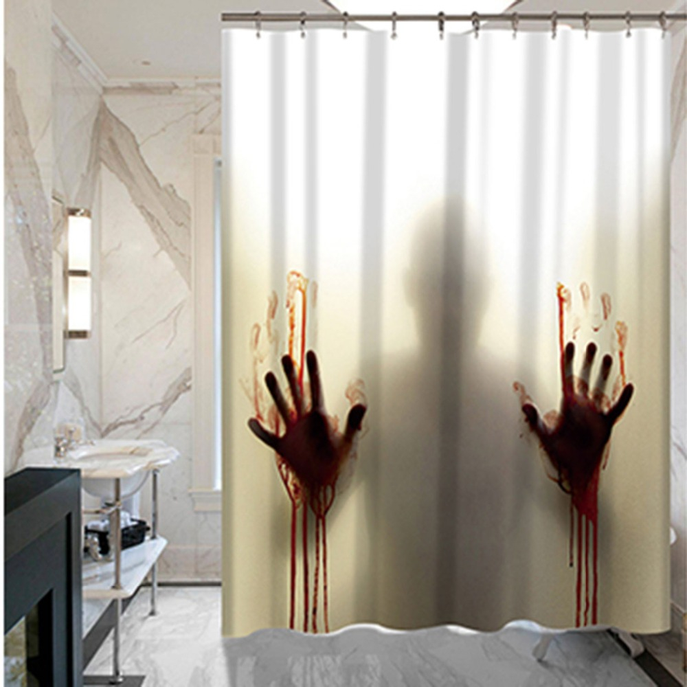 Bloody Hand Horror Custom Shower Curtain Bathroom Decoration Scary with regard to measurements 1000 X 1000