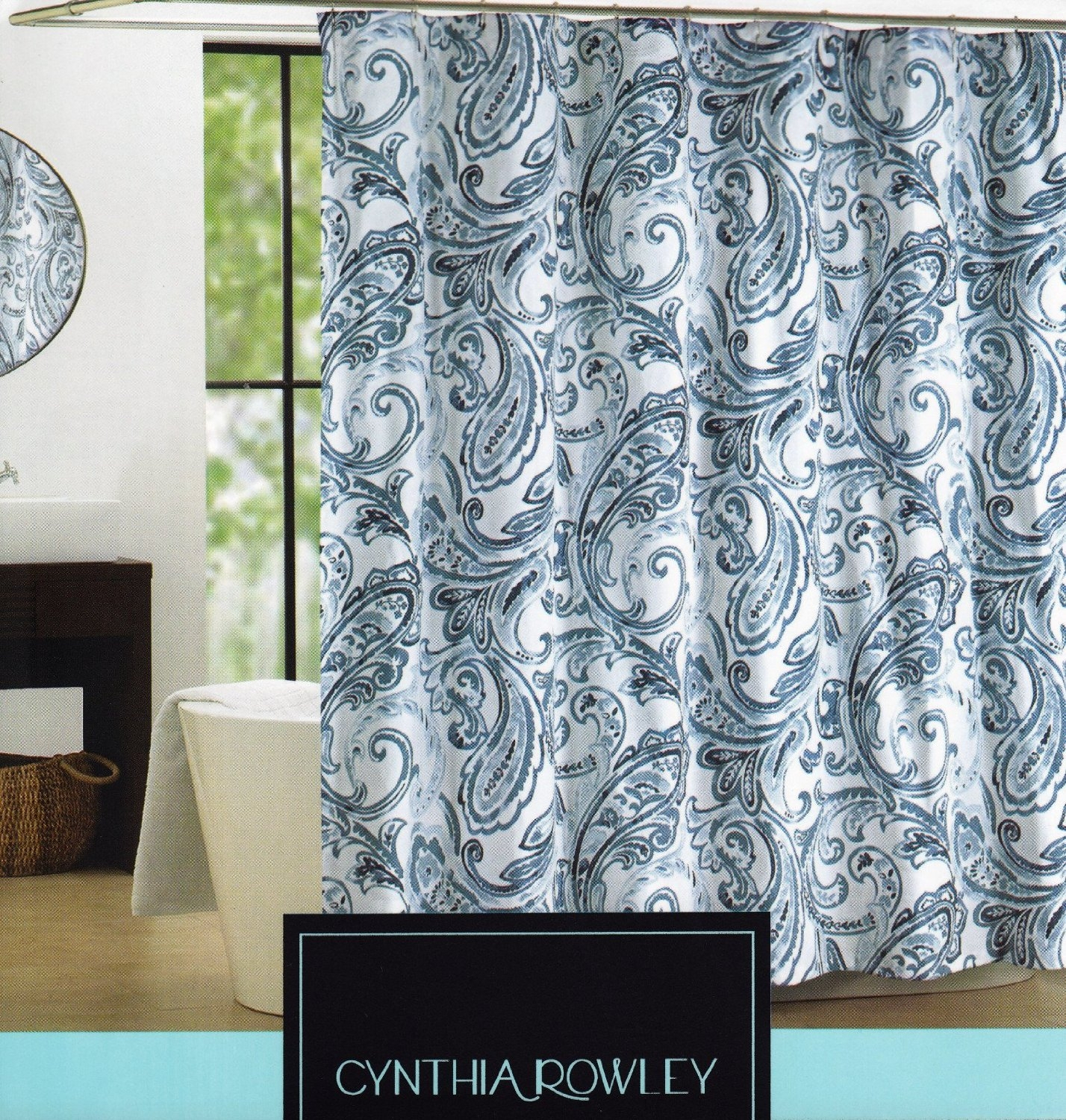 Blue And Brown Paisley Shower Curtain Shower Curtains Design for measurements 1428 X 1500