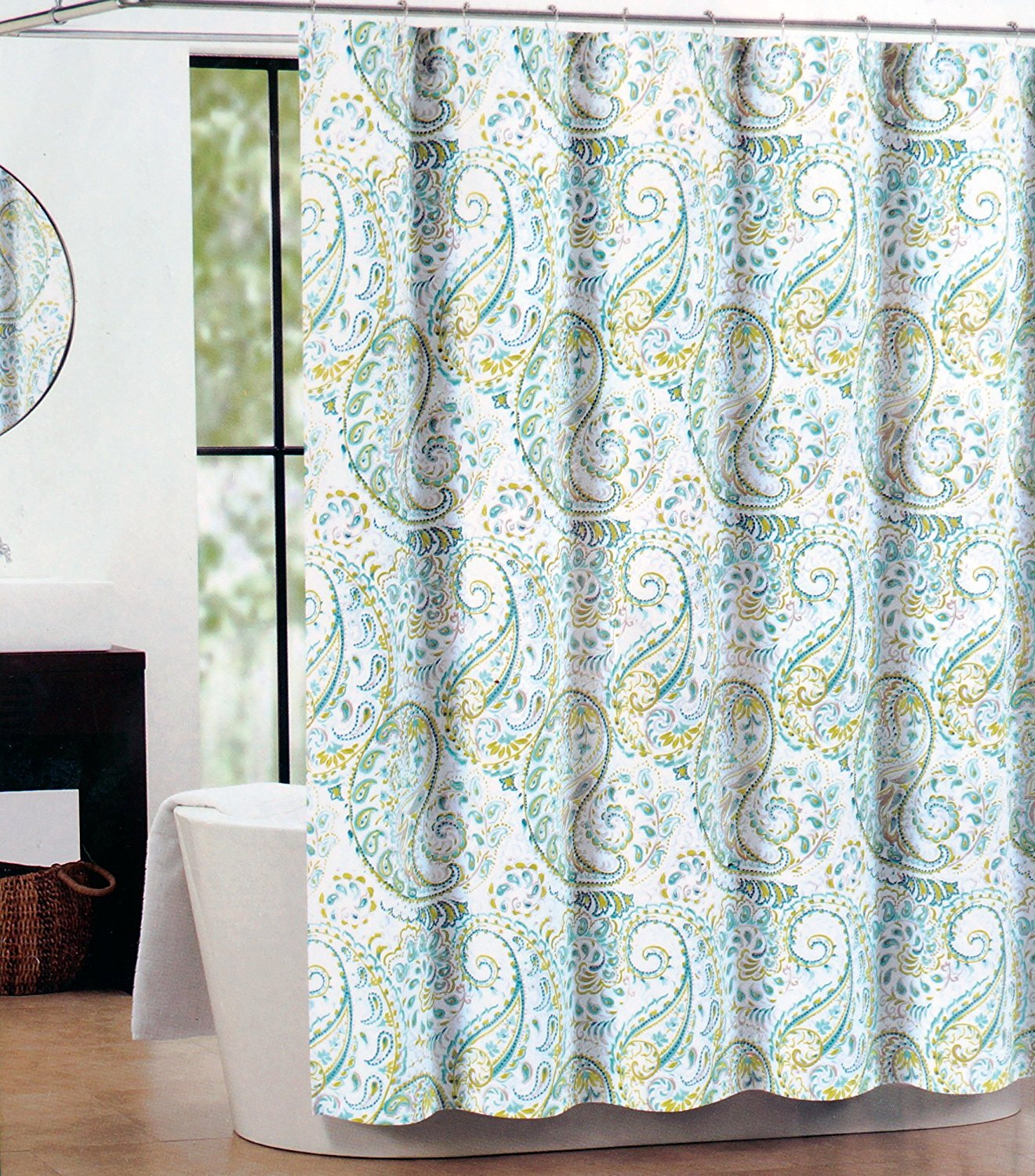 Brown And Blue Paisley Shower Curtain • Shower Curtains Ideas