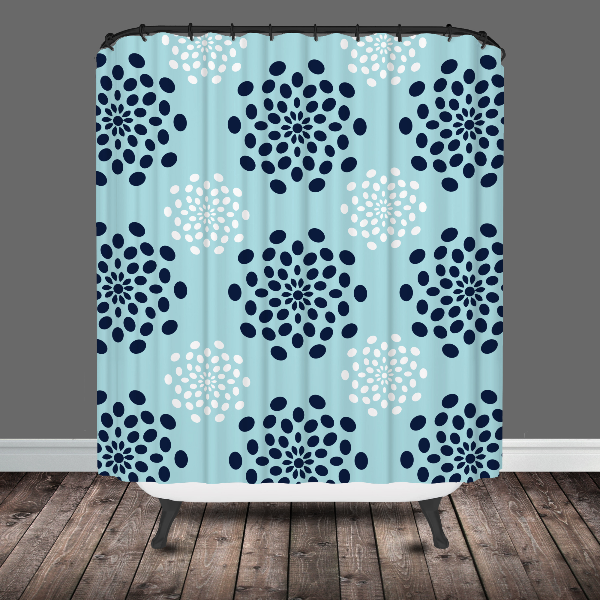 Blue And Gold Shower Curtain Tags Navy White Throughout Measurements 2000 X  Teal Curtains Ideas.
