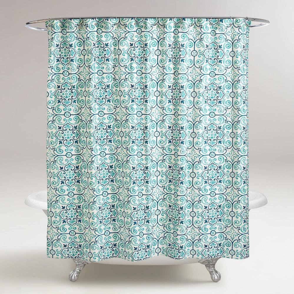 Blue Green And Orange Shower Curtain Shower Curtain Ideas With Dimensions  999 X 999