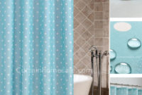 Blue Polka Dot Shower Curtain Shower Curtain intended for sizing 1421 X 1802
