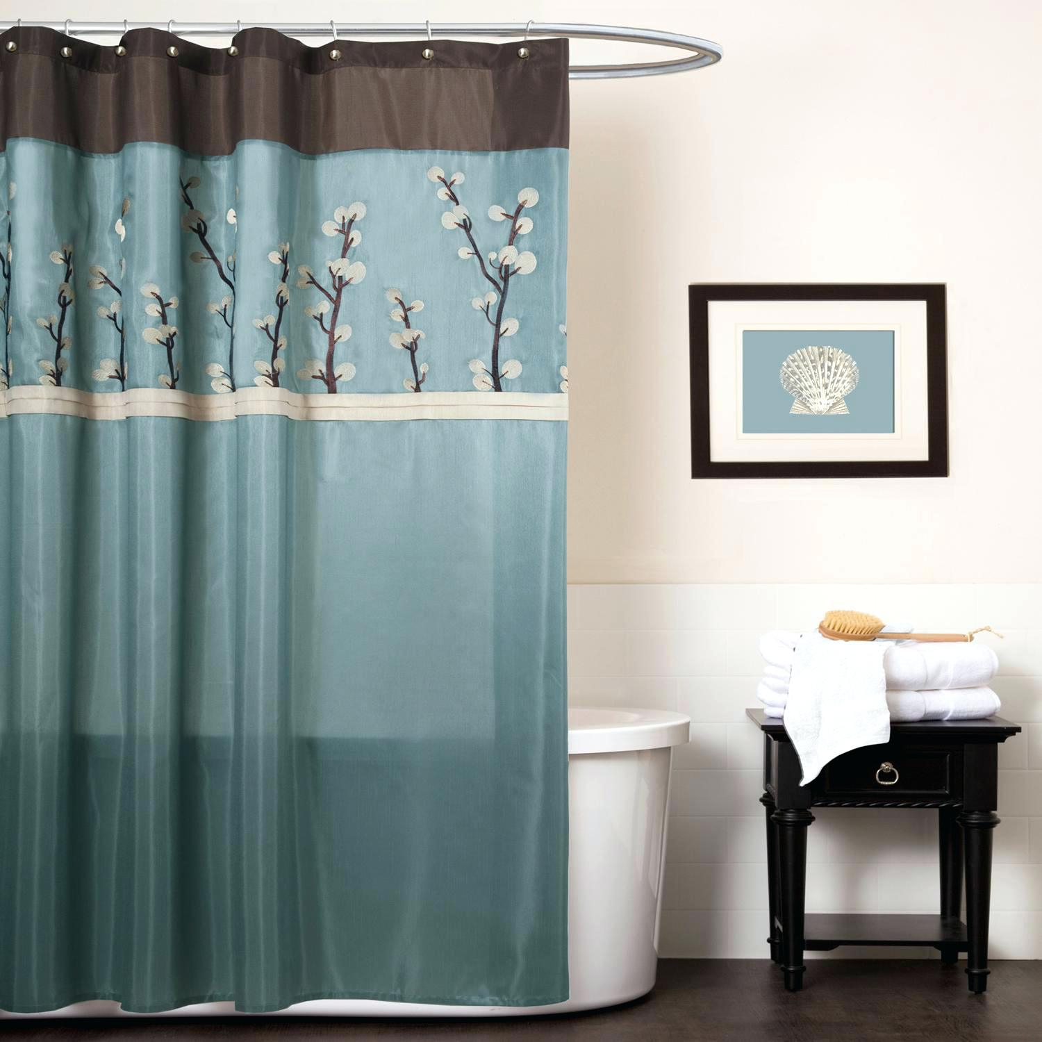 Brown And Blue Chevron Shower Curtain Shower Curtains Design in size 1500 X 1500