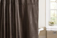 Brown Leather Shower Curtains Shower Curtains Design throughout dimensions 1500 X 1500